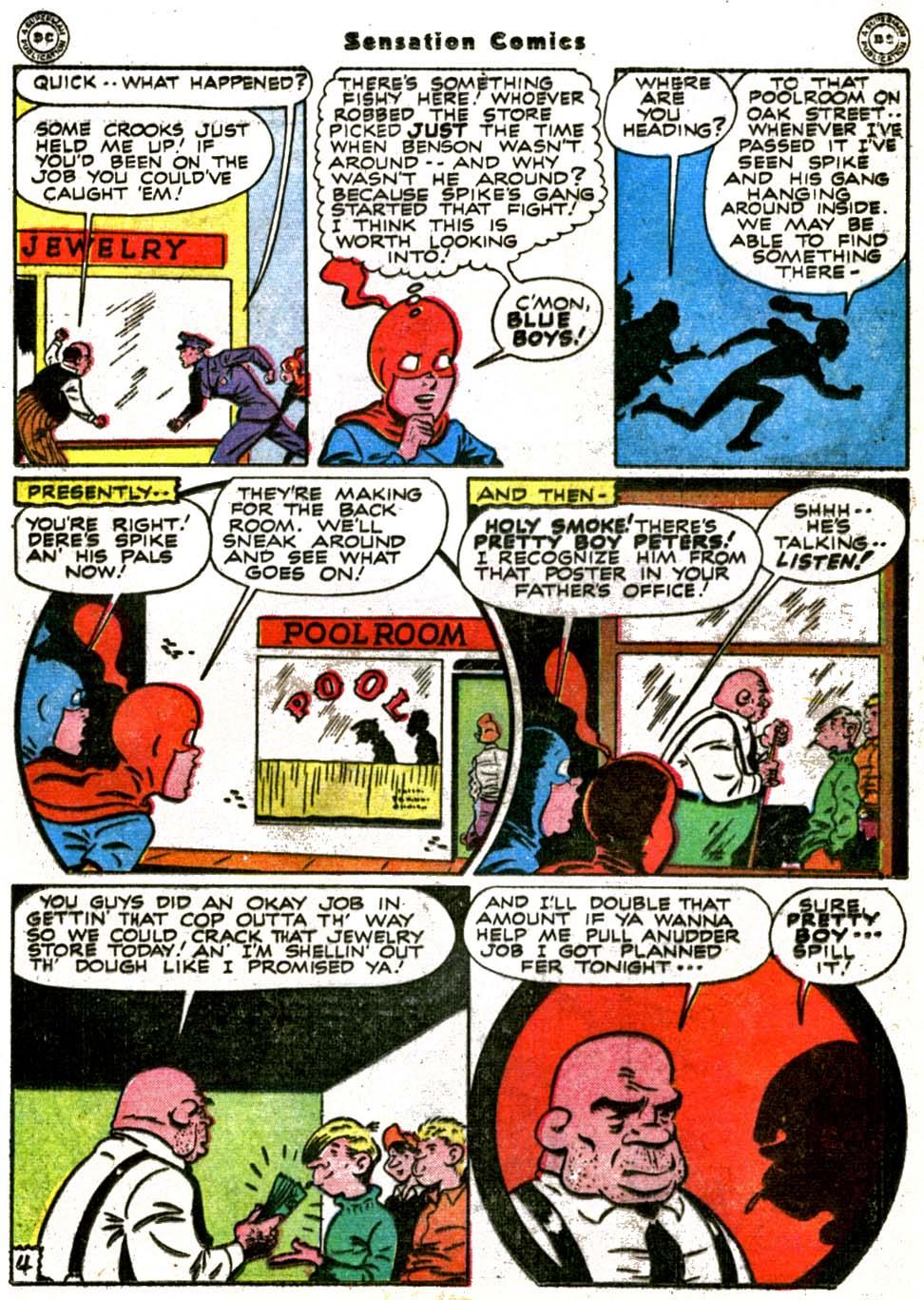 Read online Sensation (Mystery) Comics comic -  Issue #64 - 19