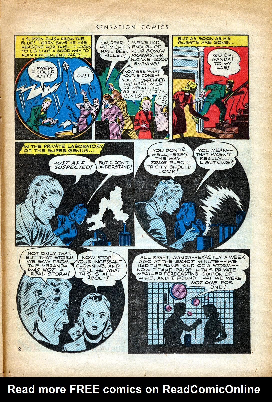 Read online Sensation (Mystery) Comics comic -  Issue #37 - 35