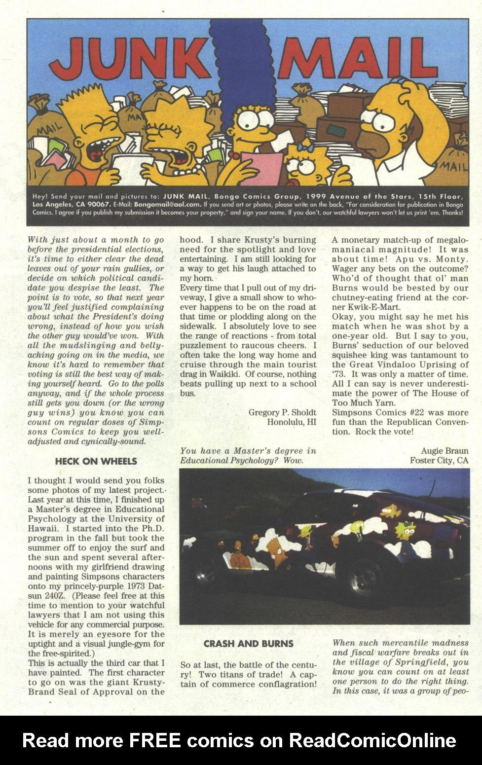 Read online Simpsons Comics comic -  Issue #24 - 25