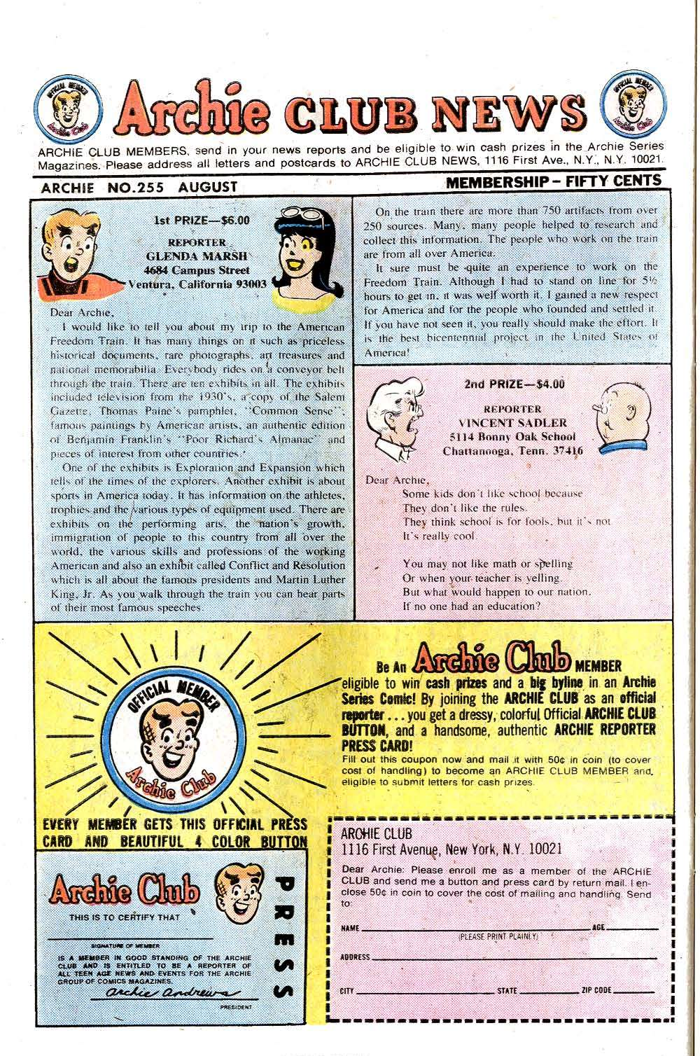 Read online Archie (1960) comic -  Issue #255 - 26
