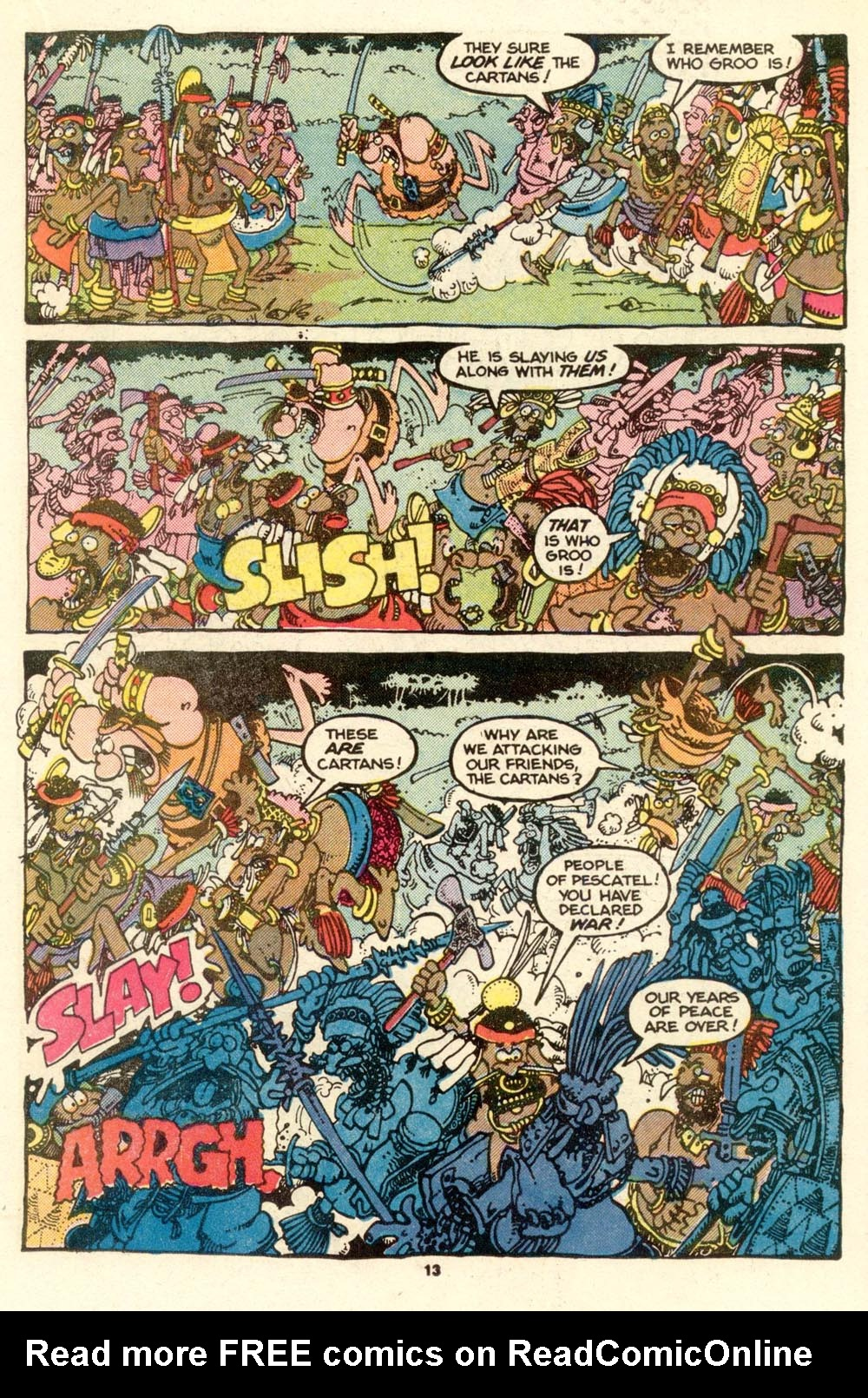 Read online Sergio Aragonés Groo the Wanderer comic -  Issue #17 - 13