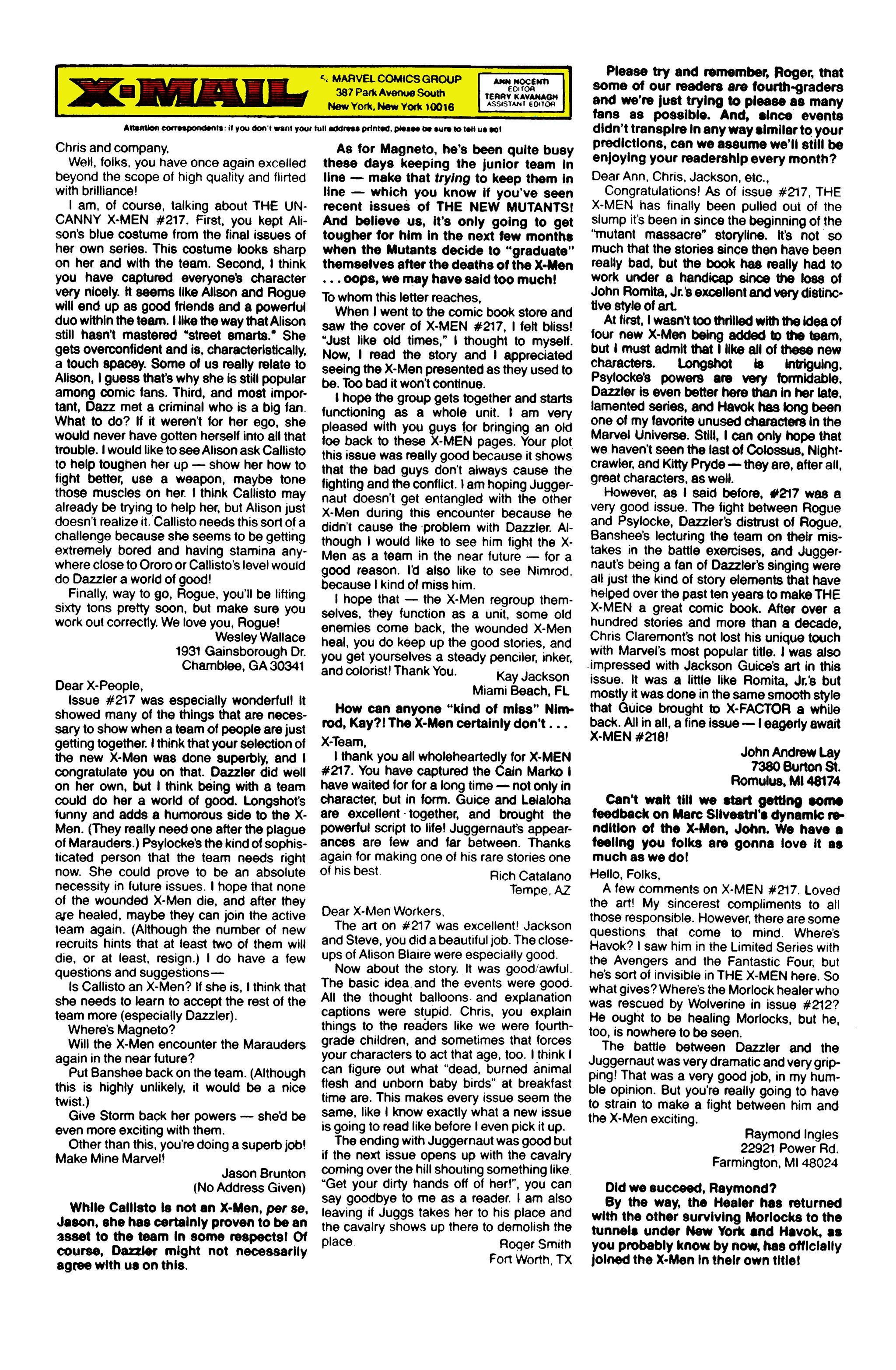 Read online Uncanny X-Men (1963) comic -  Issue #224 - 26