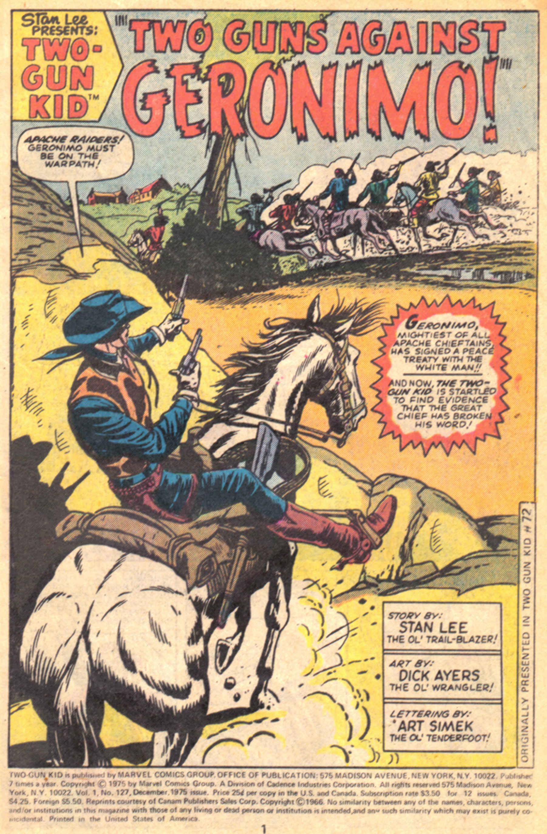Read online Two-Gun Kid comic -  Issue #127 - 4