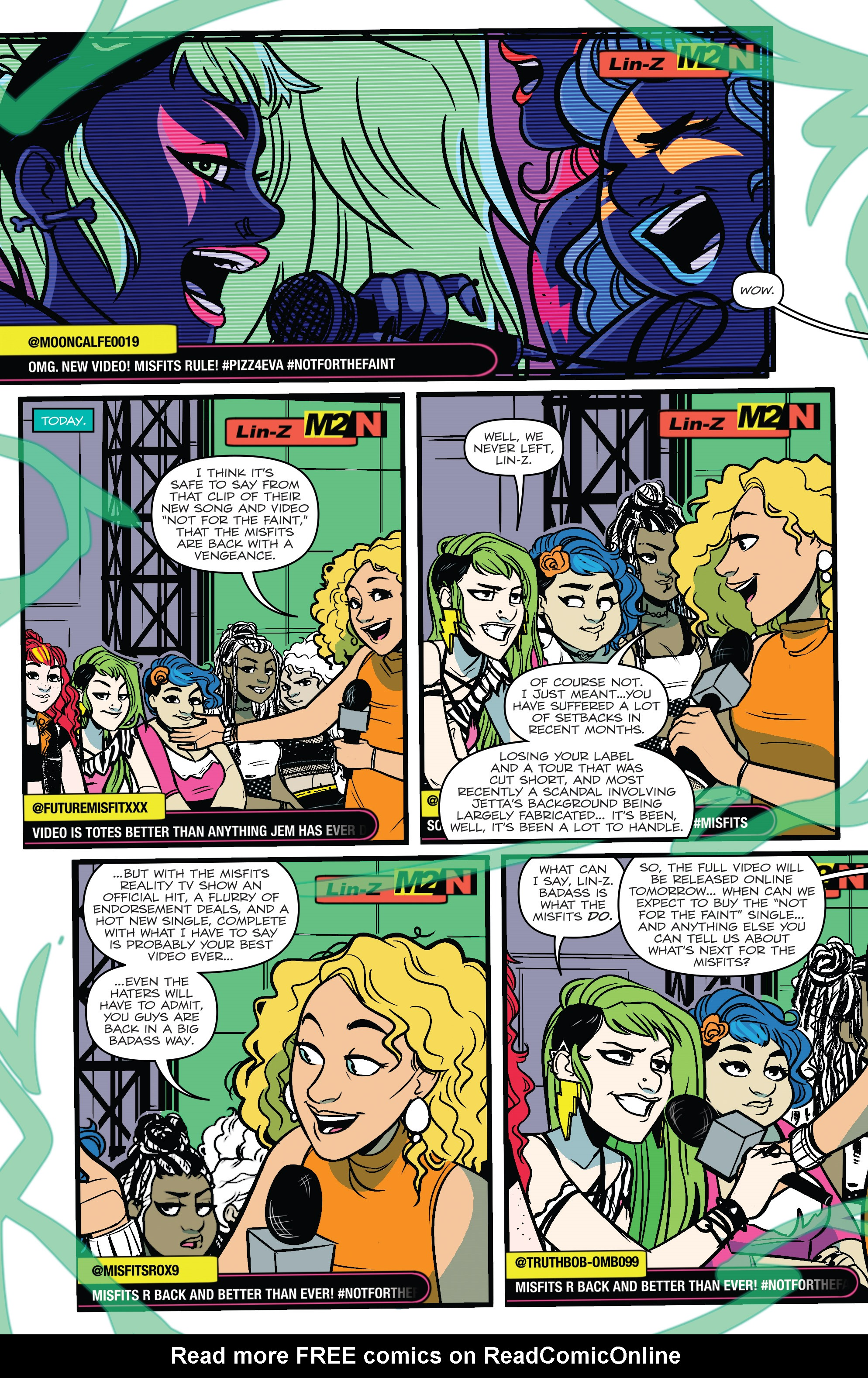 Read online Jem: The Misfits comic -  Issue #5 - 22