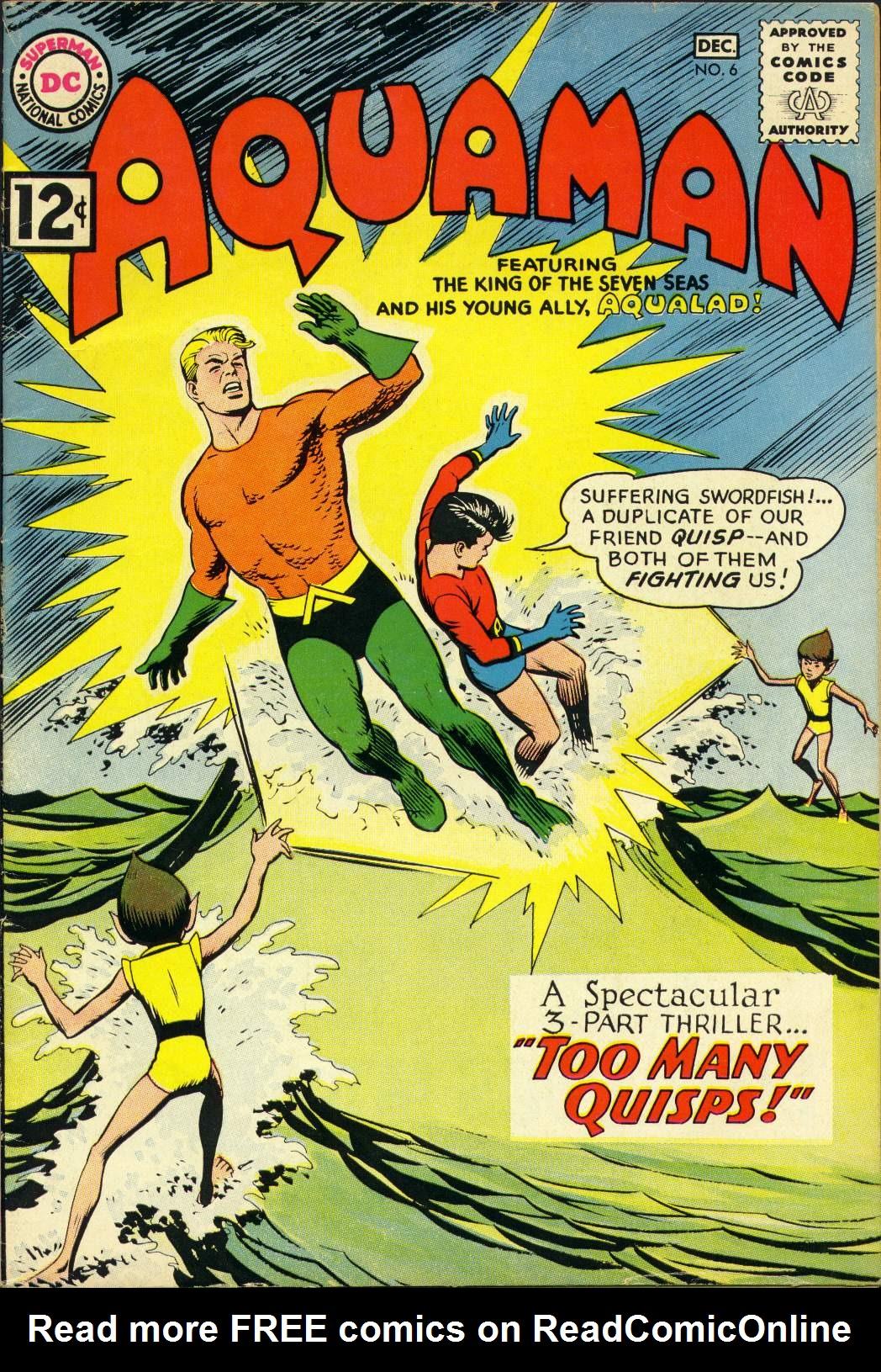 Read online Aquaman (1962) comic -  Issue #6 - 1