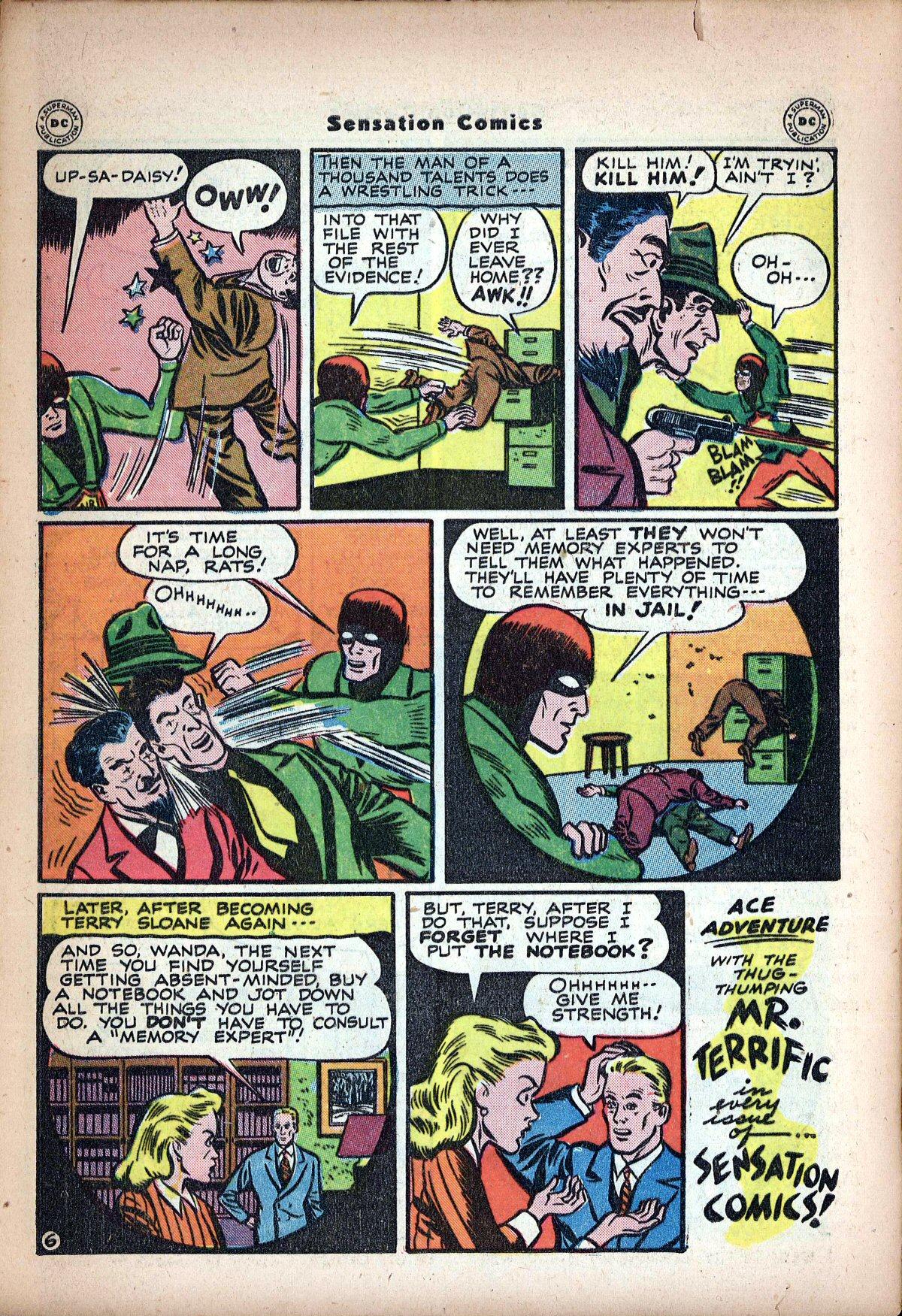 Read online Sensation (Mystery) Comics comic -  Issue #62 - 40