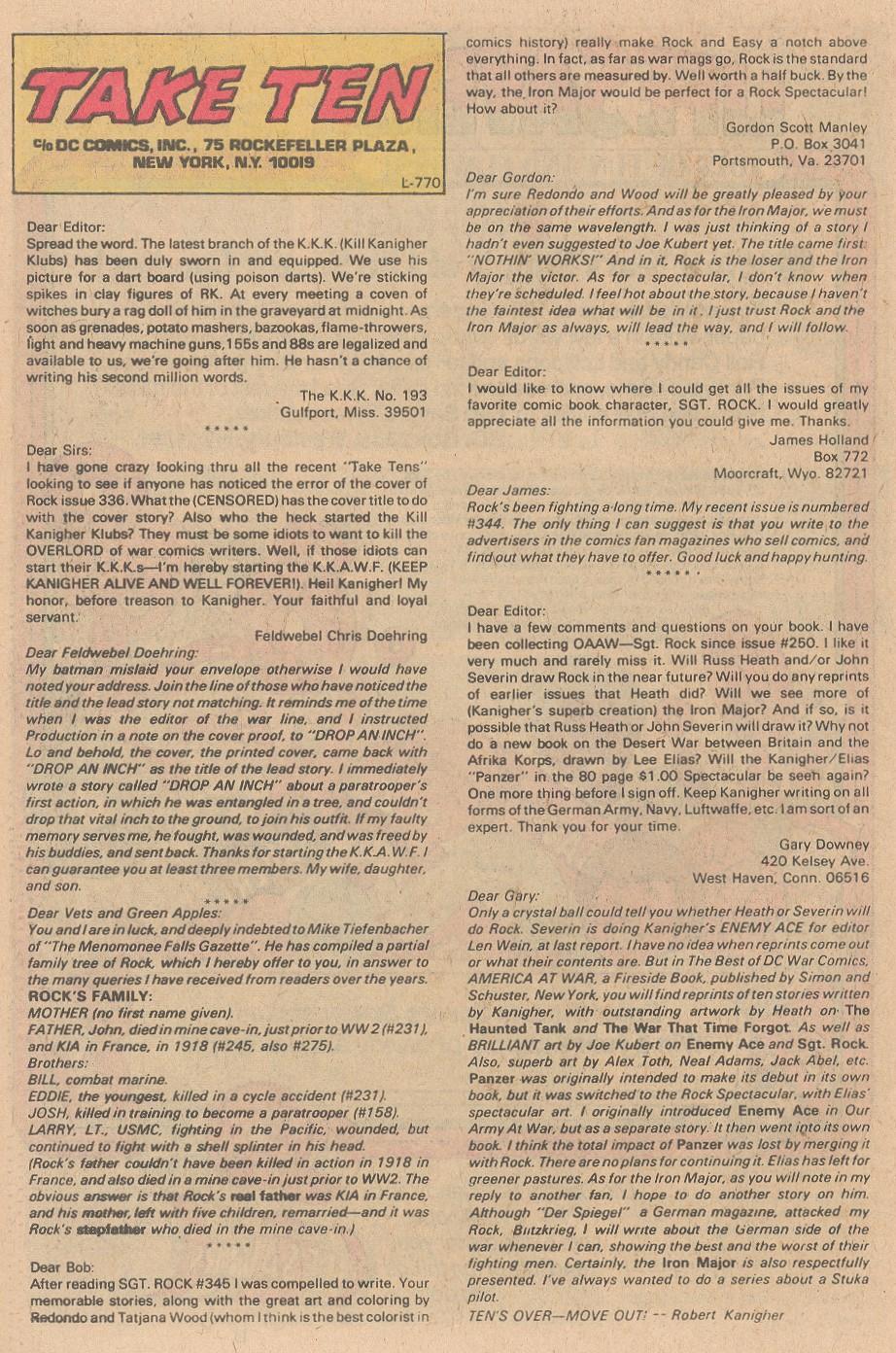 Read online Sgt. Rock comic -  Issue #353 - 24