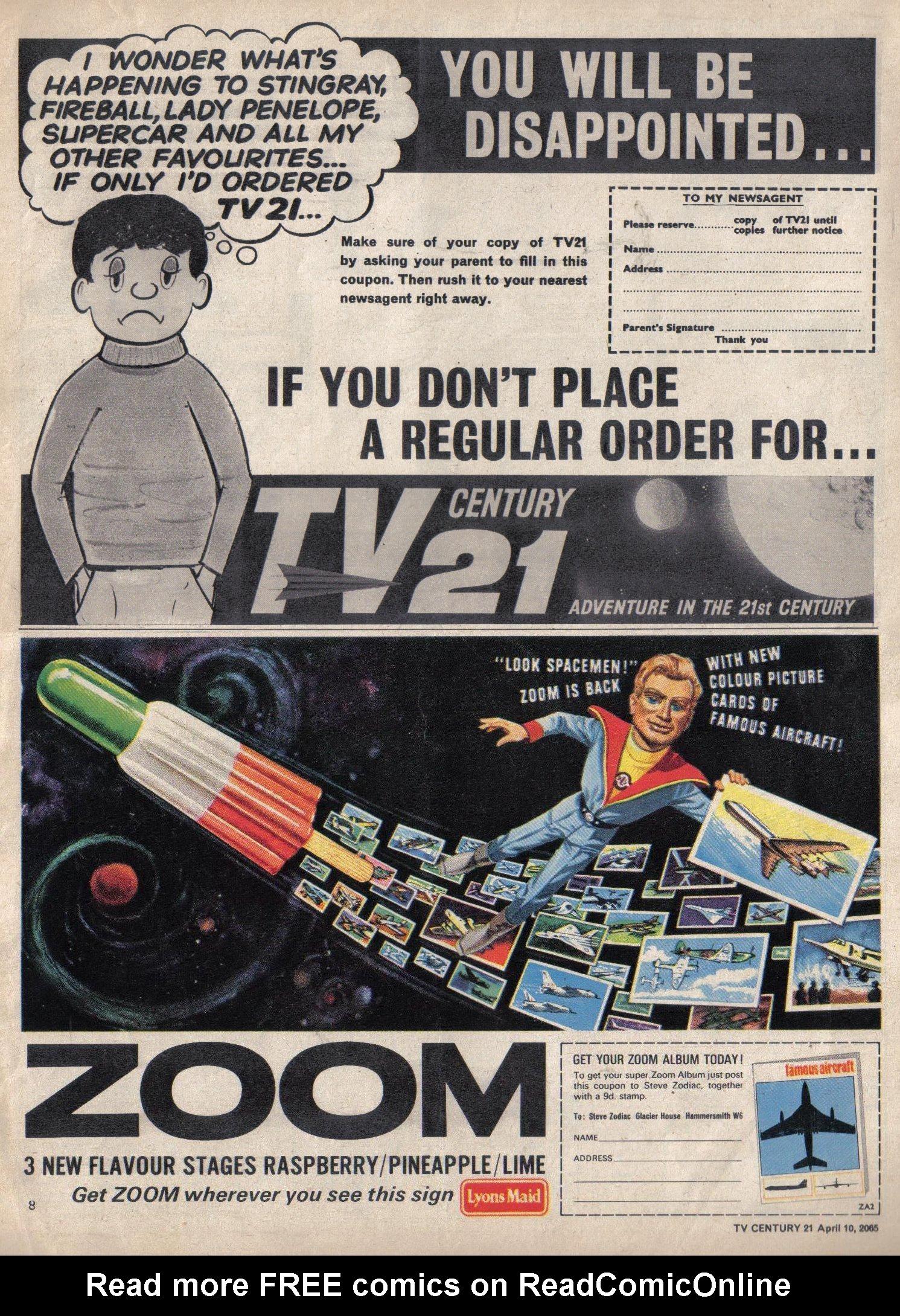 Read online TV Century 21 (TV 21) comic -  Issue #12 - 8