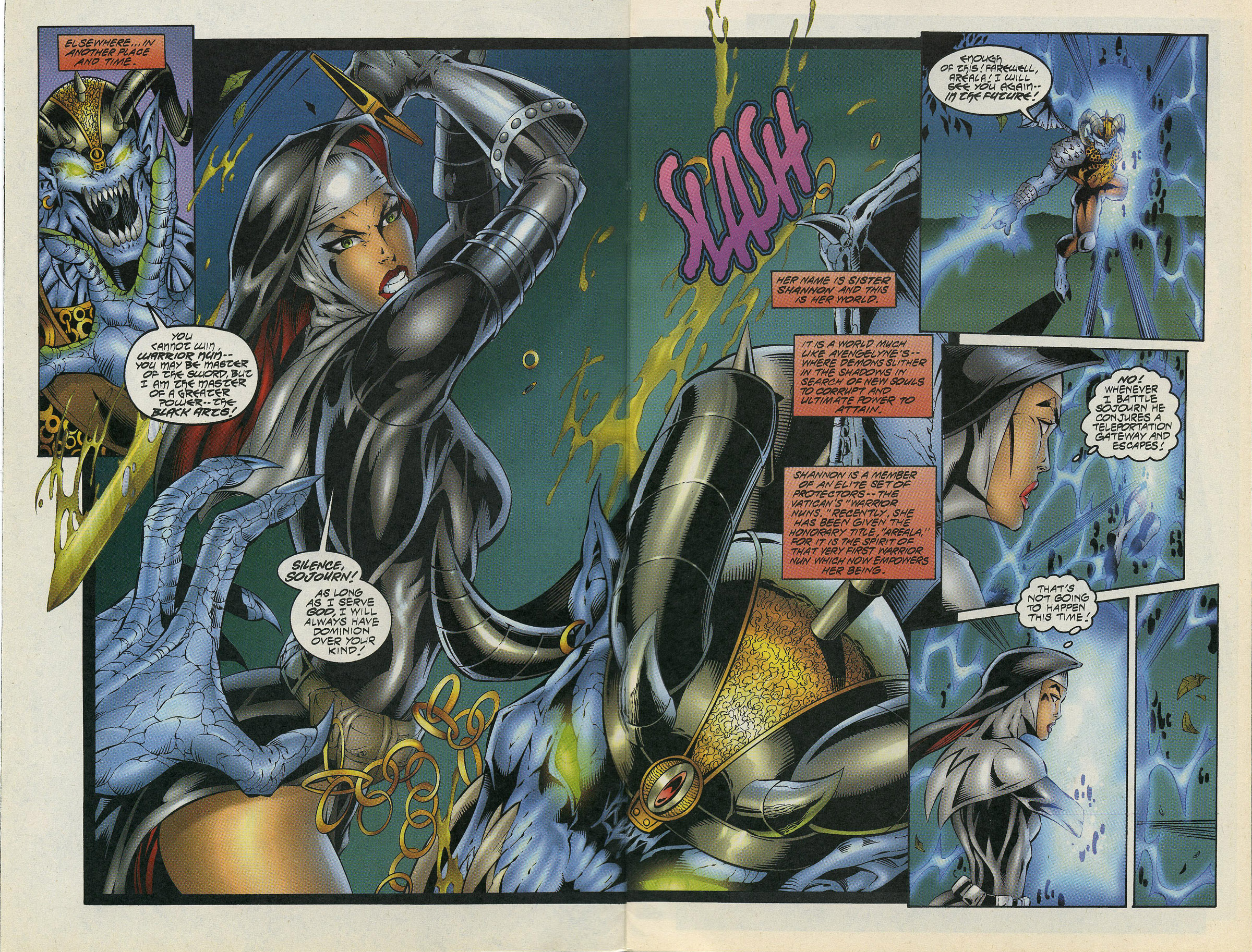 Read online Avengelyne/Warrior Nun Areala comic -  Issue # Full - 7