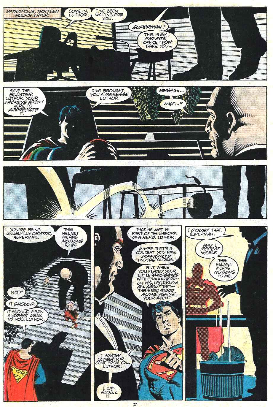 Read online Adventures of Superman (1987) comic -  Issue #437 - 21