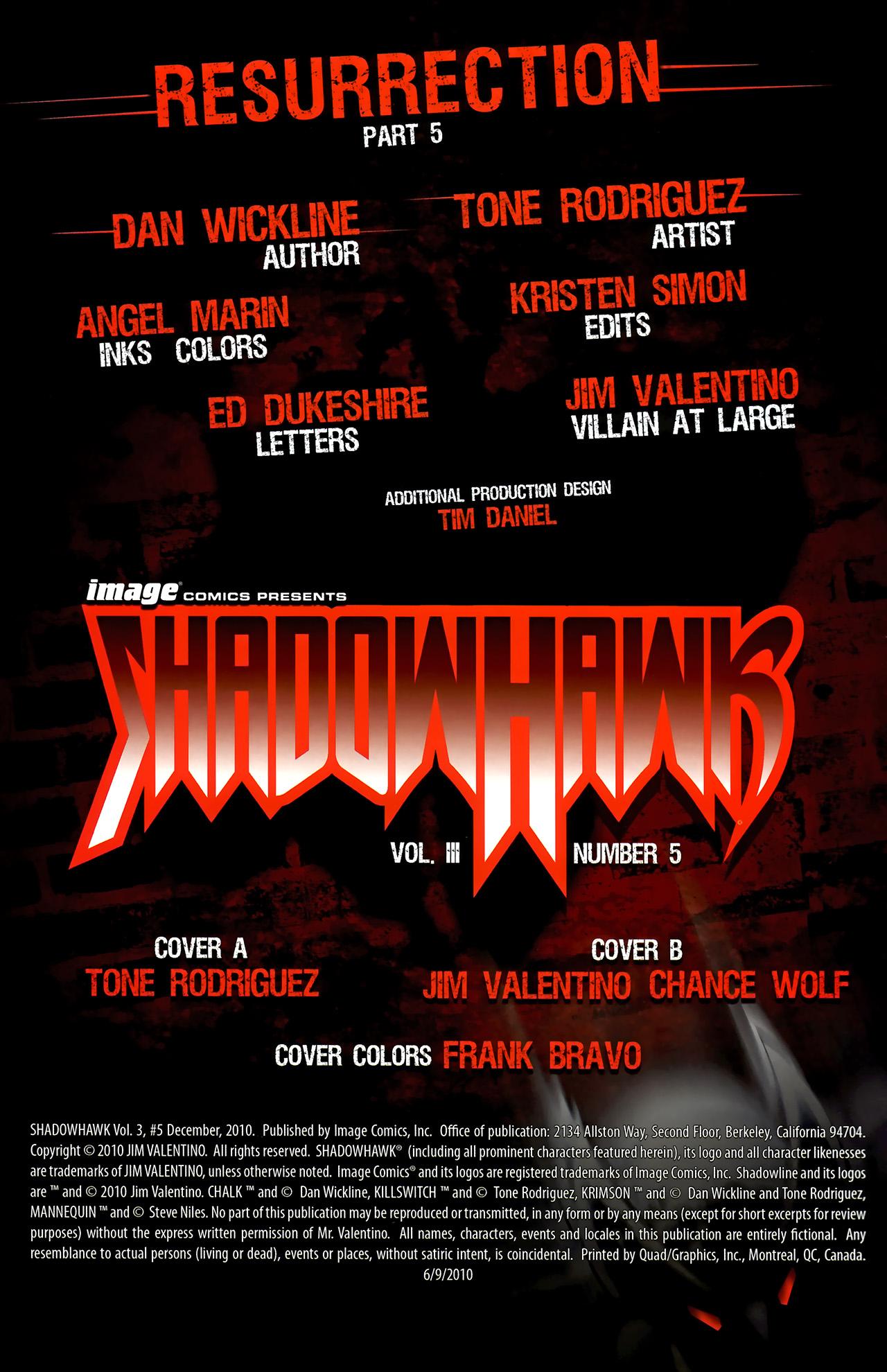 Read online ShadowHawk (2010) comic -  Issue #5 - 3