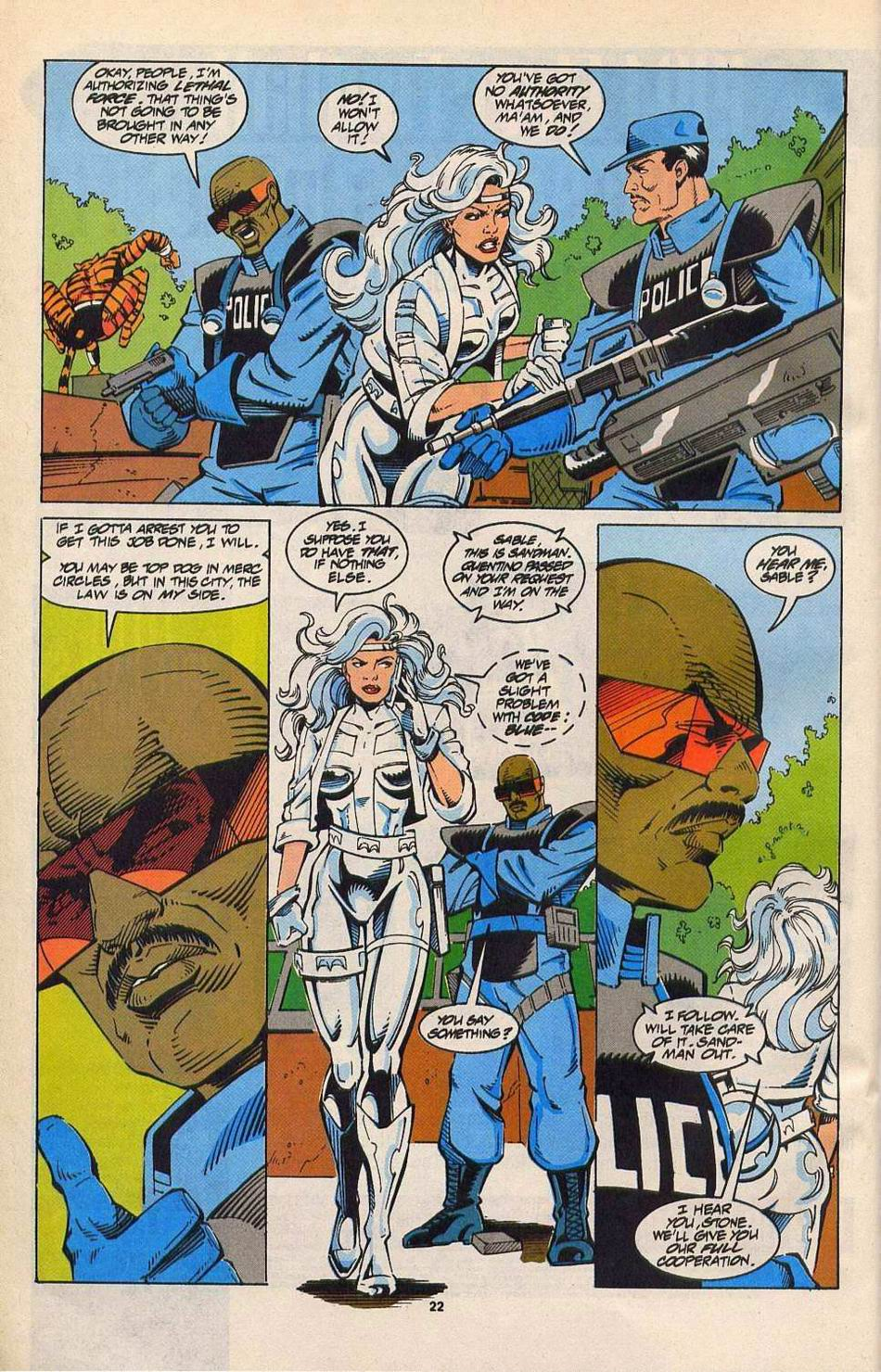 Read online Silver Sable and the Wild Pack comic -  Issue #27 - 18
