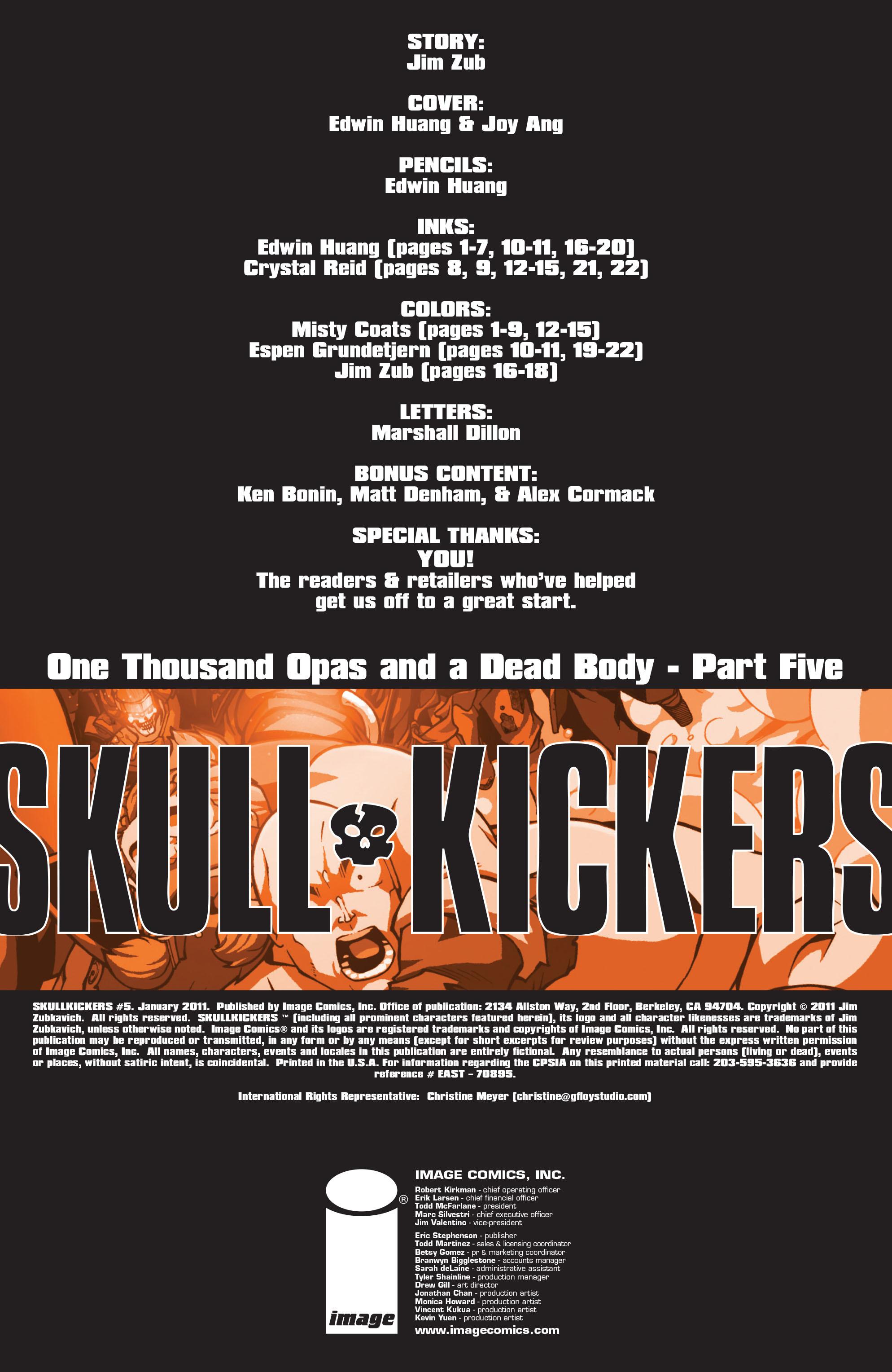 Read online Skullkickers comic -  Issue #5 - 2