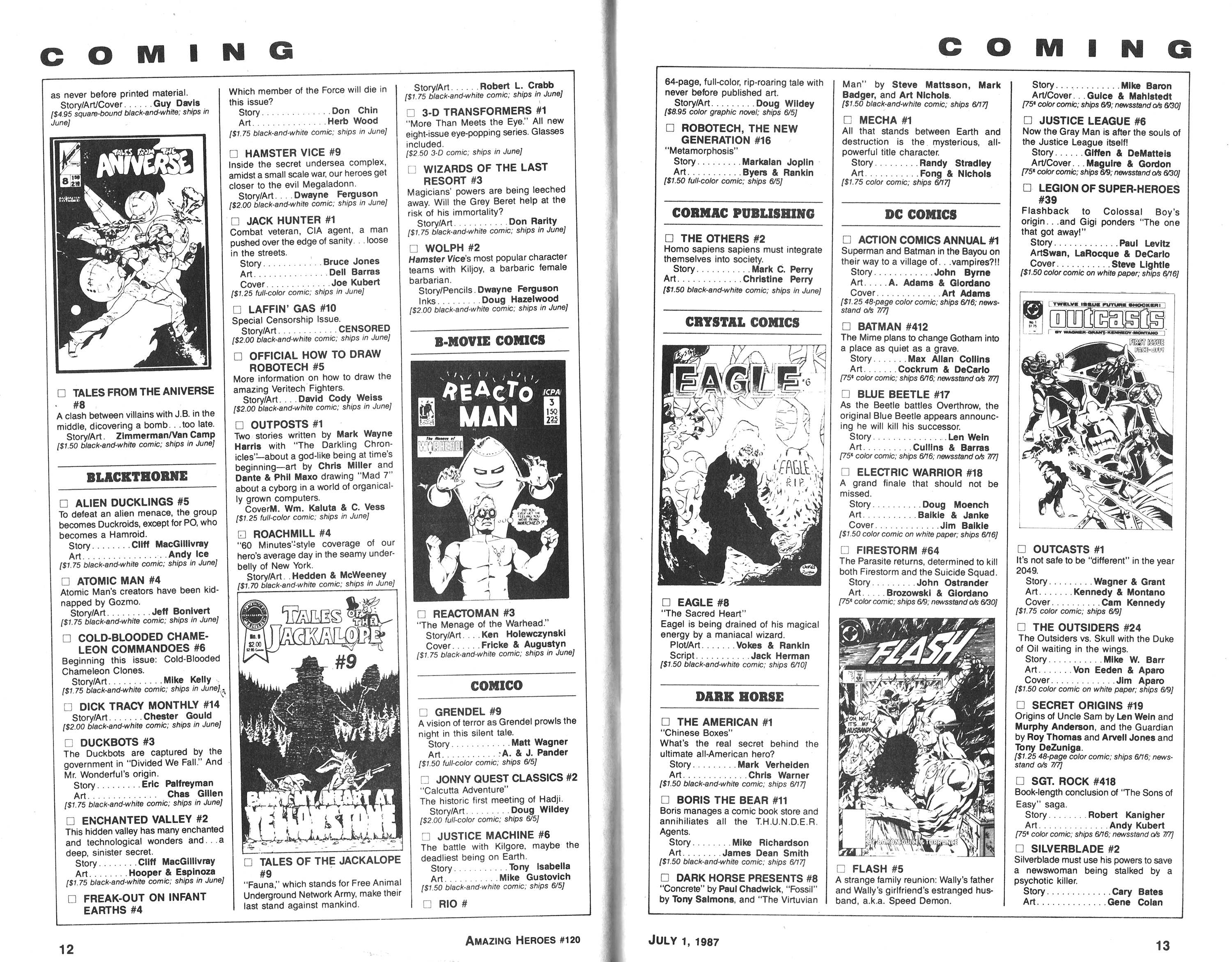 Read online Amazing Heroes comic -  Issue #120 - 7