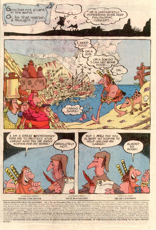 Read online Sergio Aragonés Groo the Wanderer comic -  Issue #46 - 2