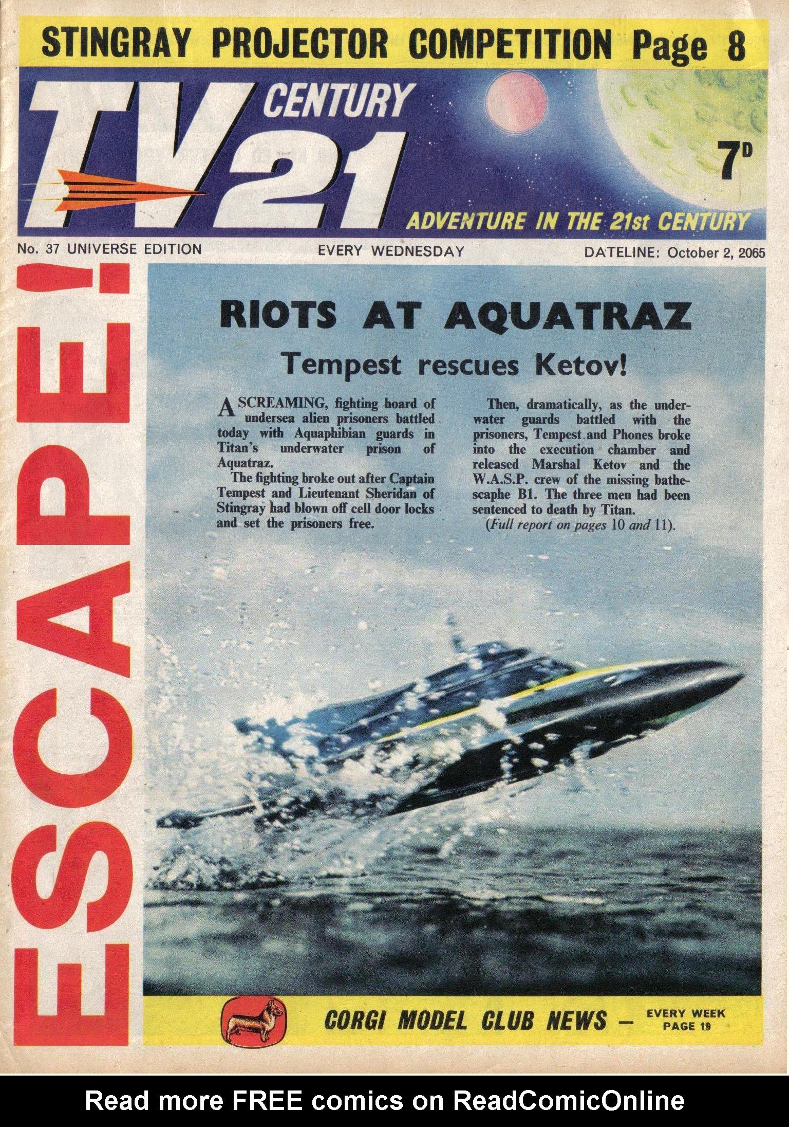 Read online TV Century 21 (TV 21) comic -  Issue #37 - 1