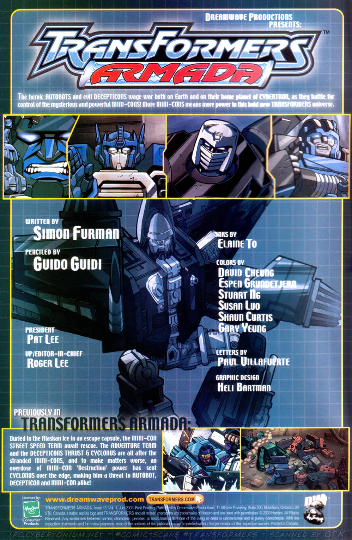 Read online Transformers Armada comic -  Issue #13 - 2