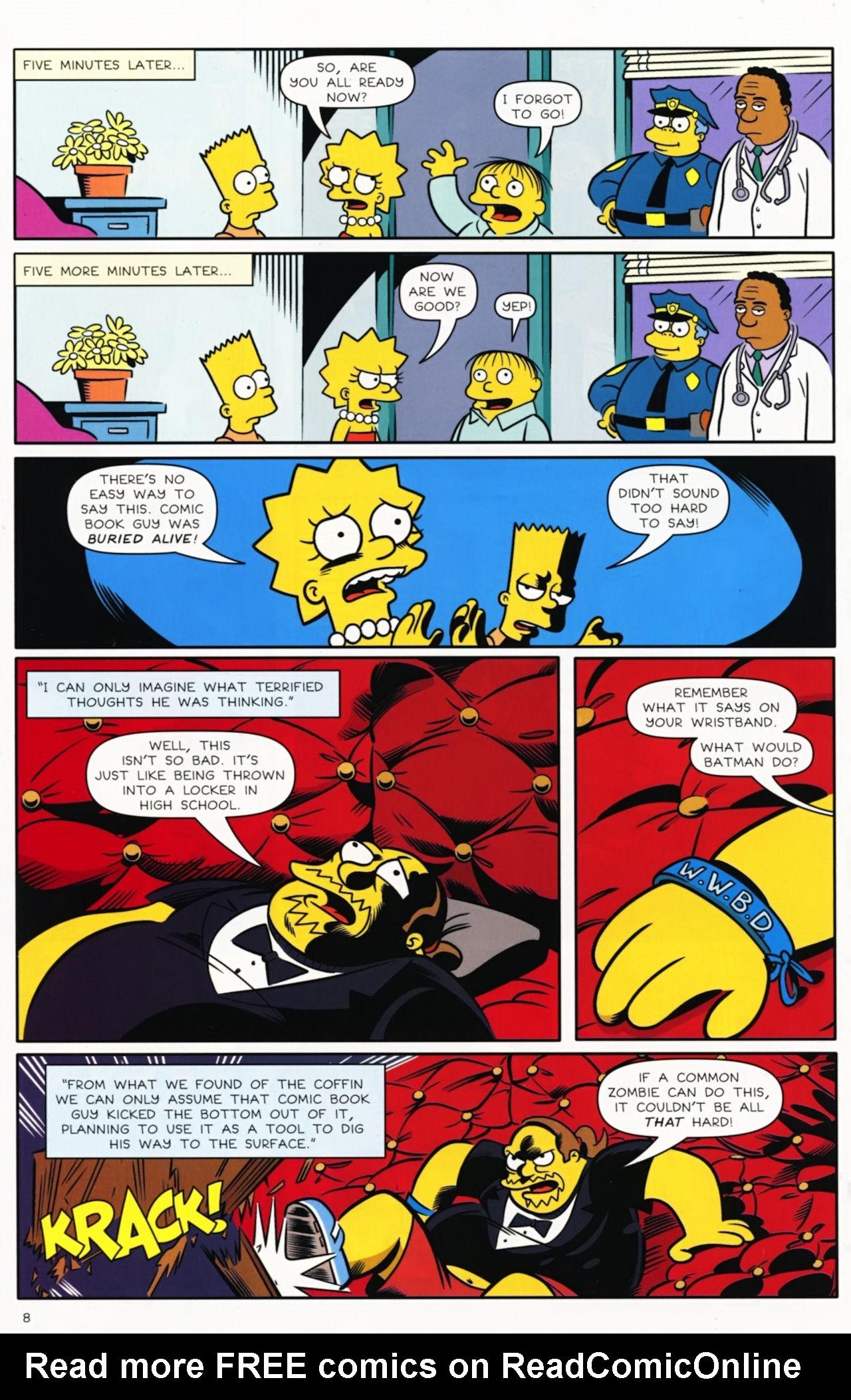 Read online Bongo Comics presents Comic Book Guy: The Comic Book comic -  Issue #5 - 10