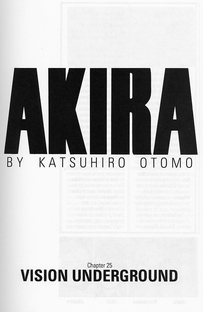 Read online Akira comic -  Issue #25 - 4
