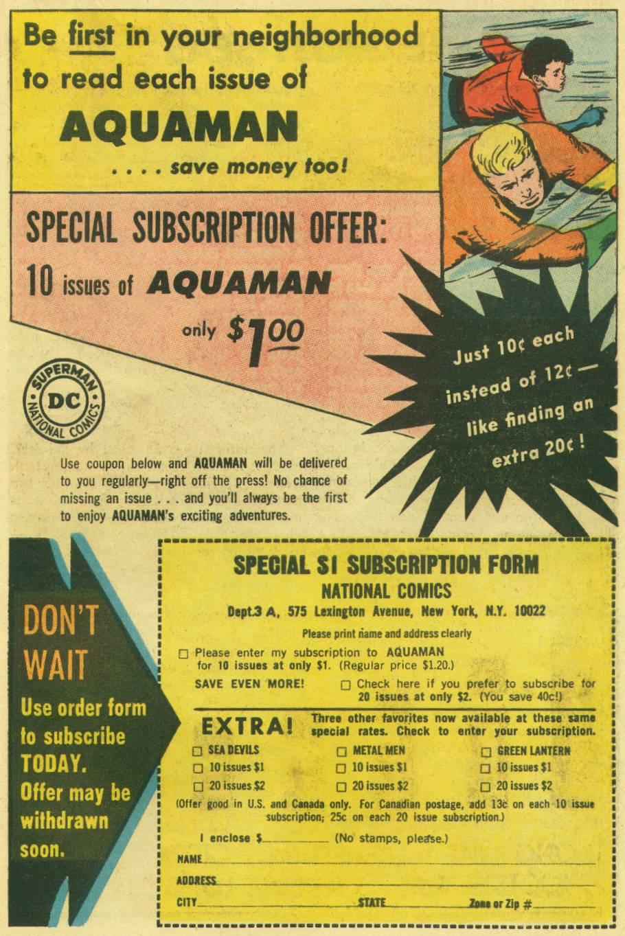 Read online Aquaman (1962) comic -  Issue #16 - 23
