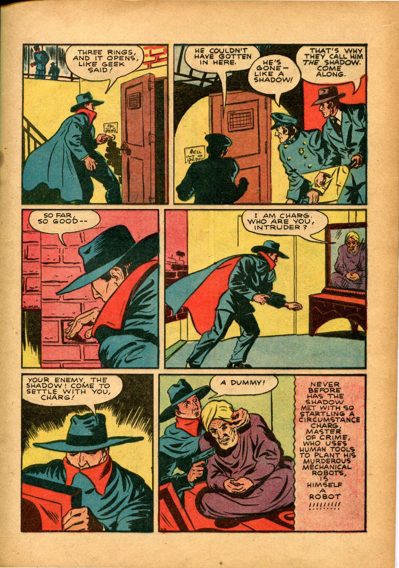 Read online Shadow Comics comic -  Issue #8 - 17