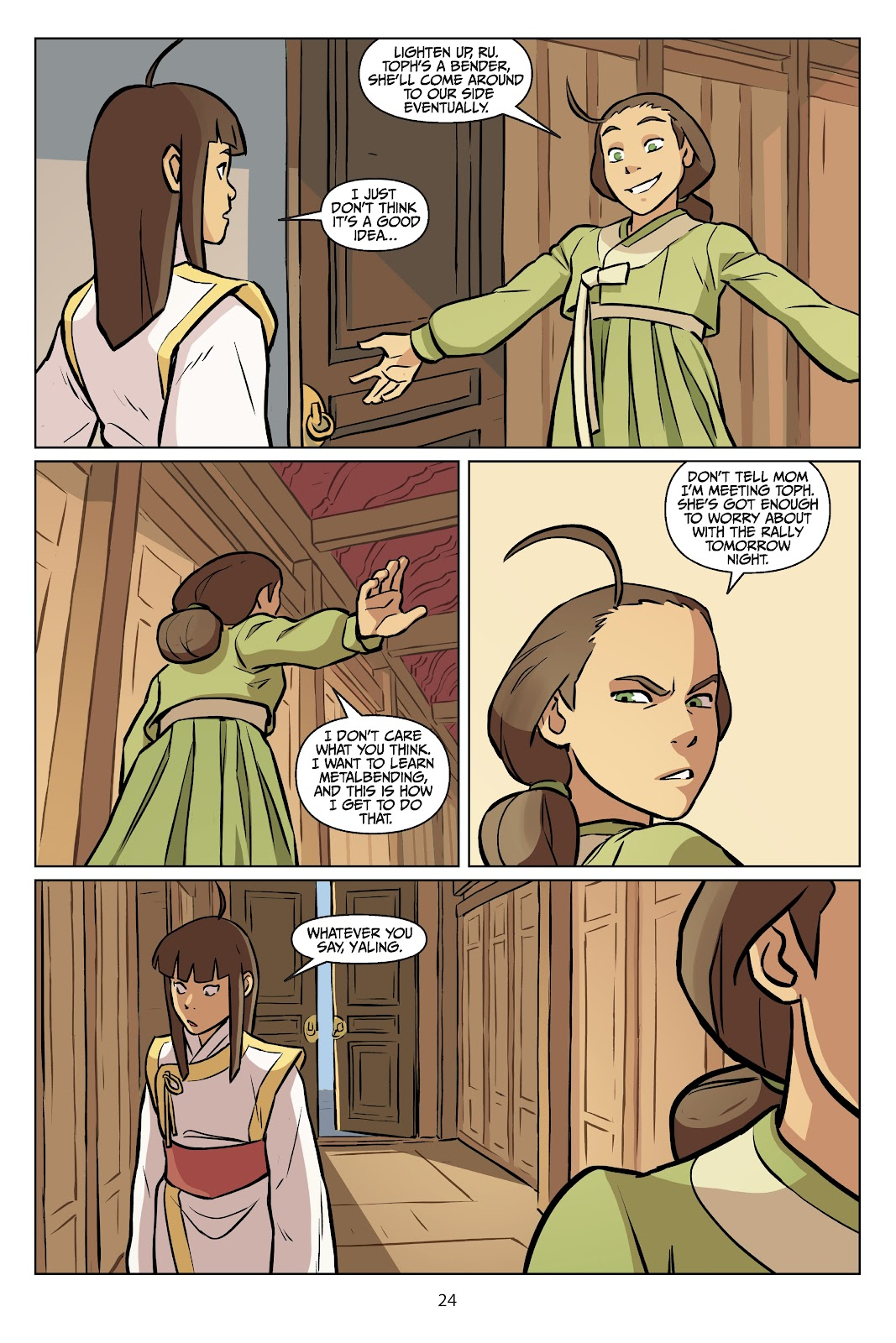 Read online Nickelodeon Avatar: The Last Airbender - Imbalance comic -  Issue # TPB 2 - 25