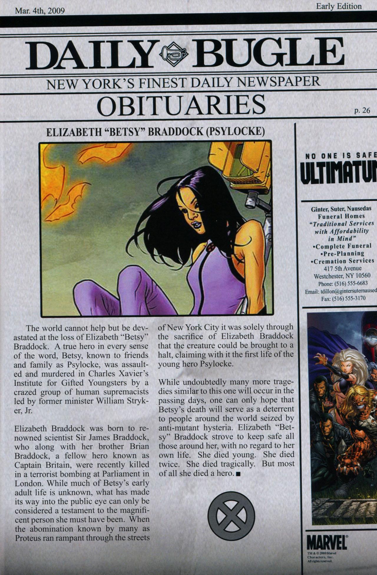 Read online Ultimatum: X-Men Requiem comic -  Issue # Full - 36