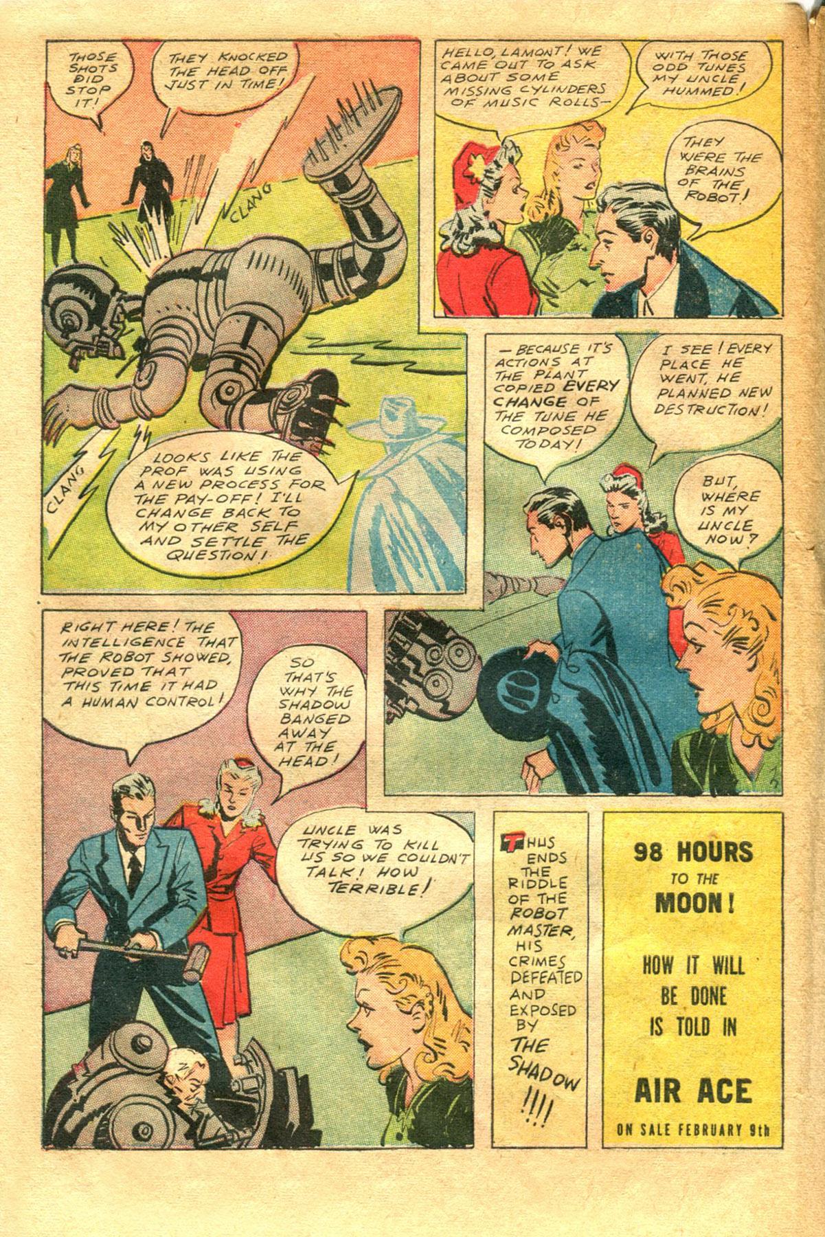Read online Shadow Comics comic -  Issue #48 - 44