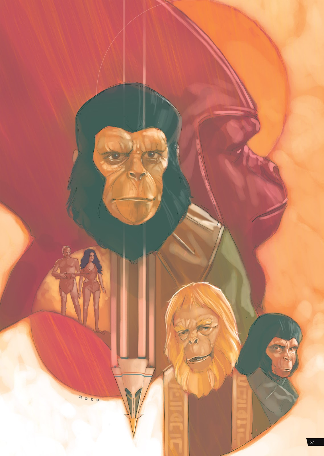 Read online Planet of the Apes Artist Tribute comic -  Issue # TPB - 57