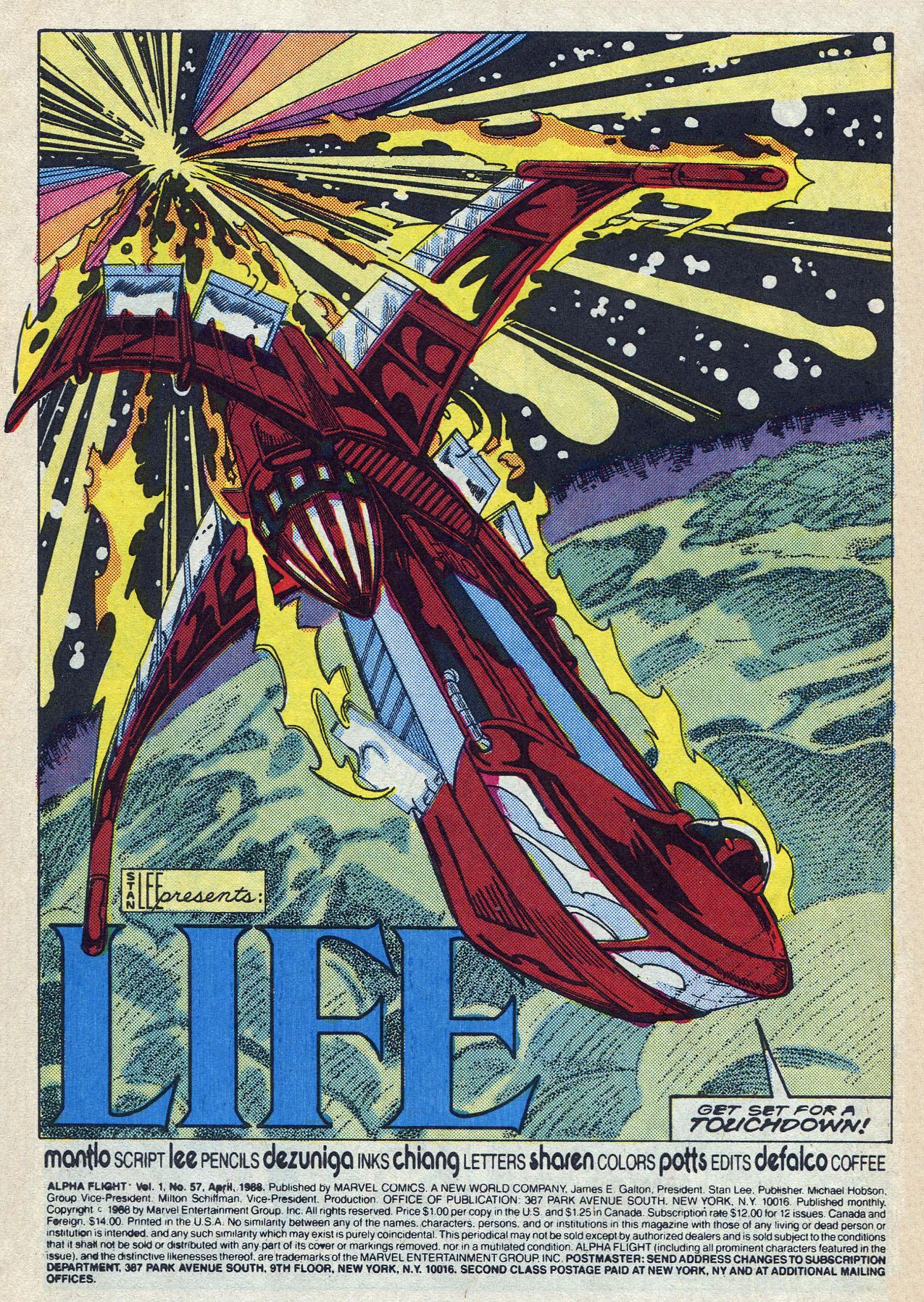 Read online Alpha Flight (1983) comic -  Issue #57 - 3