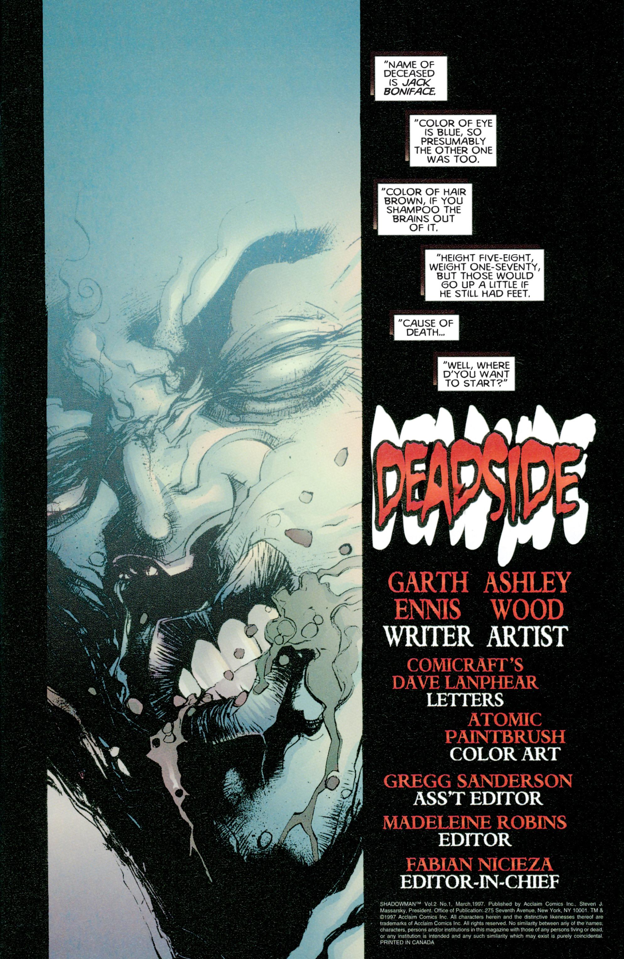 Read online Shadowman (1997) comic -  Issue #1 - 2