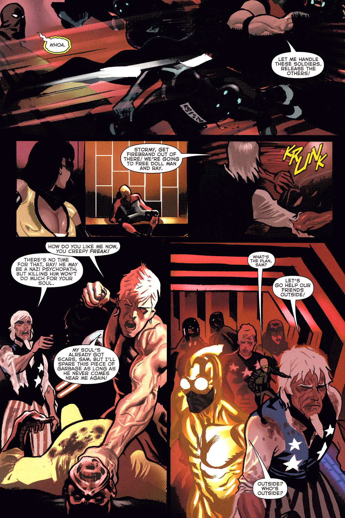 Read online Uncle Sam and the Freedom Fighters (2006) comic -  Issue #6 - 8