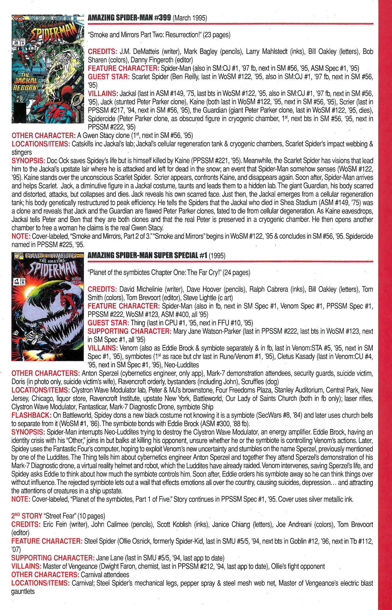 Read online Official Index to the Marvel Universe comic -  Issue #9 - 21
