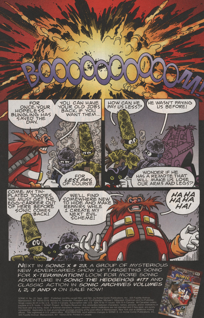Read online Sonic X comic -  Issue #22 - 34