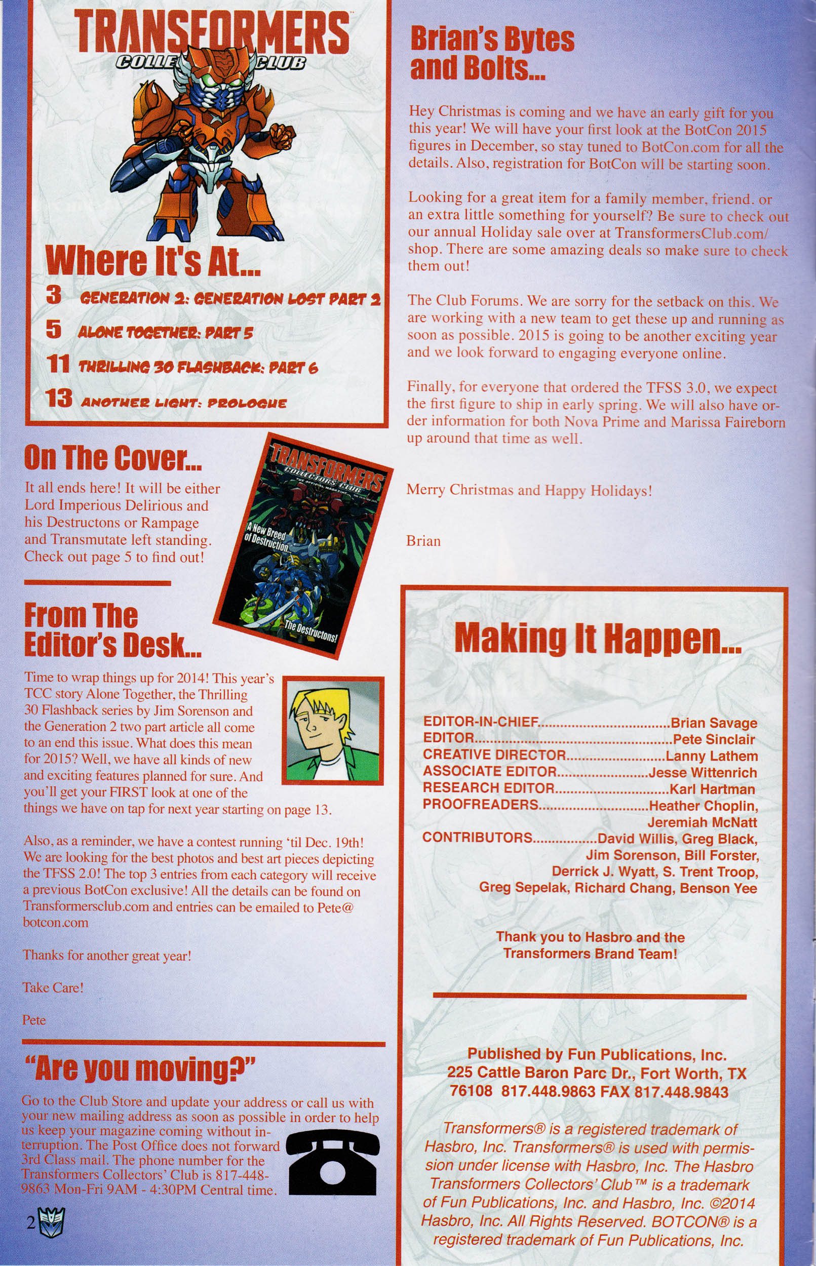 Read online Transformers: Collectors' Club comic -  Issue #60 - 2