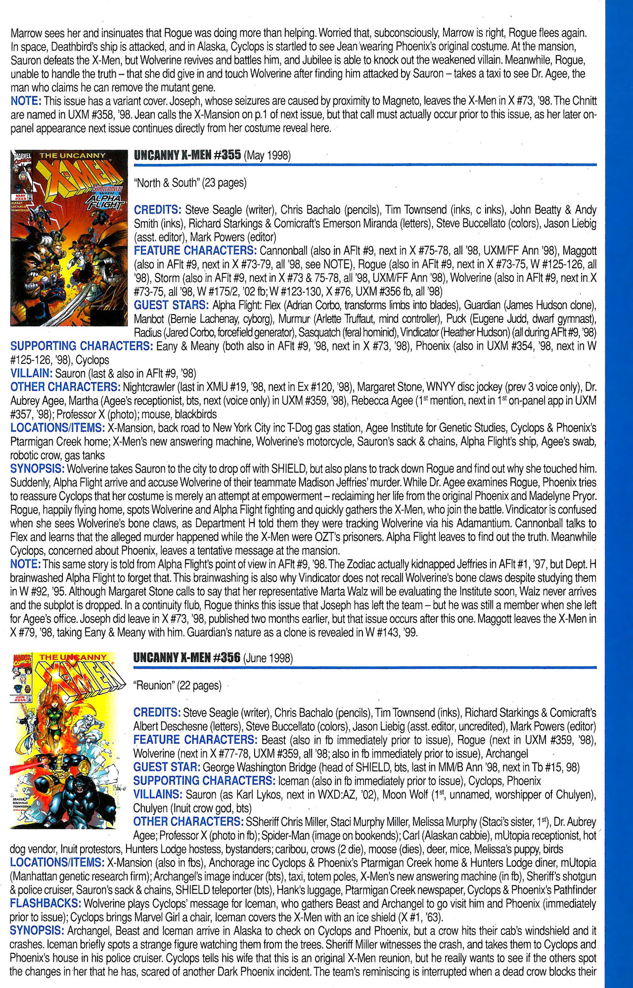 Read online Official Index to the Marvel Universe comic -  Issue #9 - 55