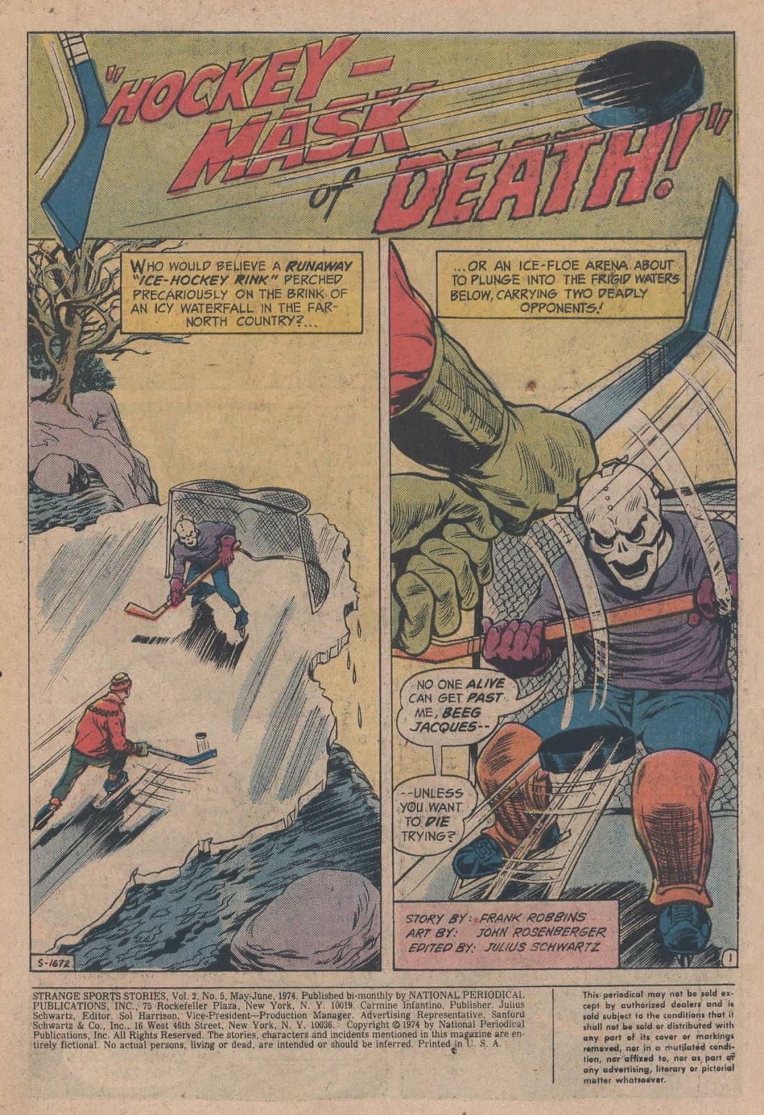 Read online Strange Sports Stories (1973) comic -  Issue #5 - 3