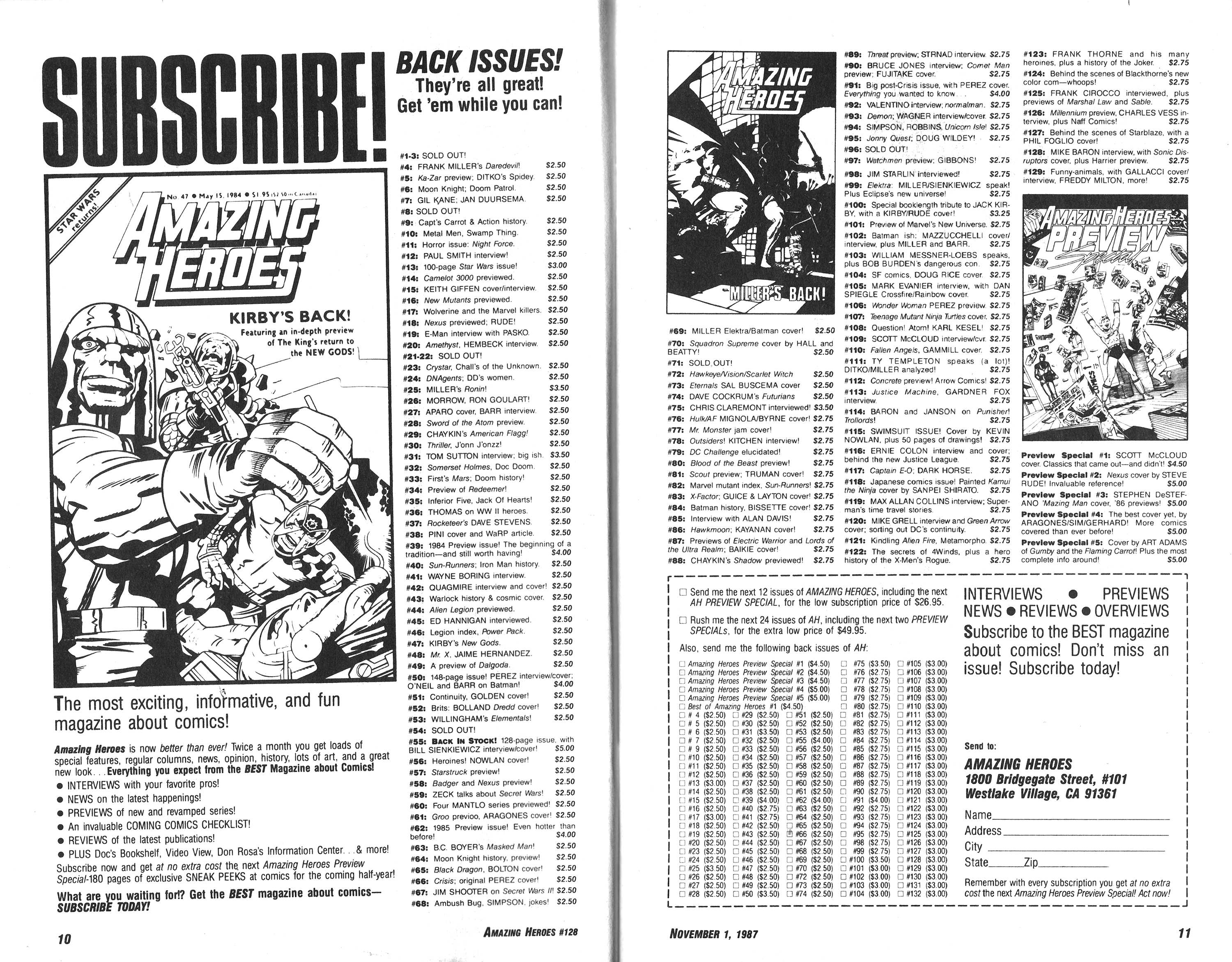 Read online Amazing Heroes comic -  Issue #128 - 6