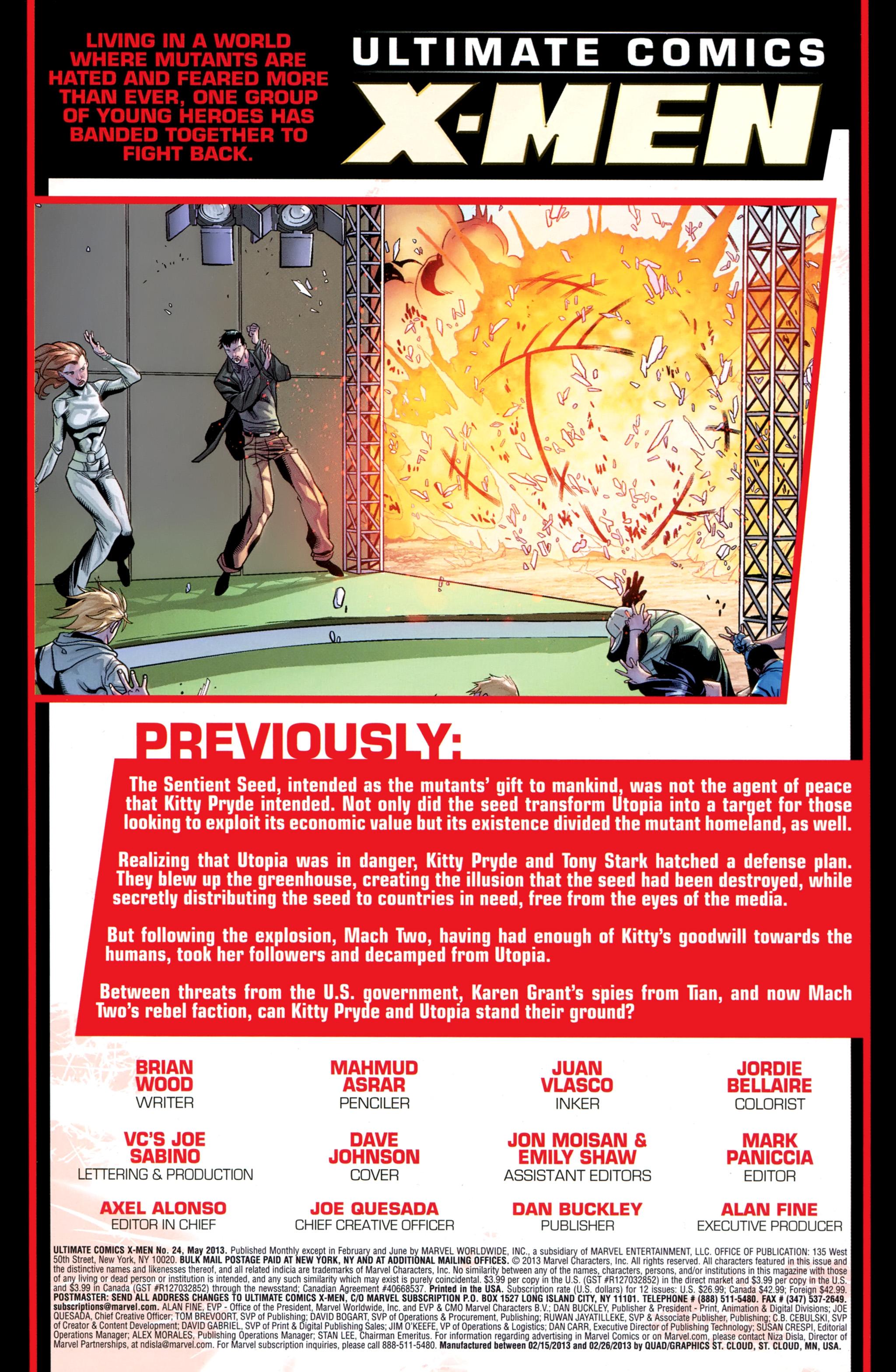 Read online Ultimate Comics X-Men comic -  Issue #24 - 2