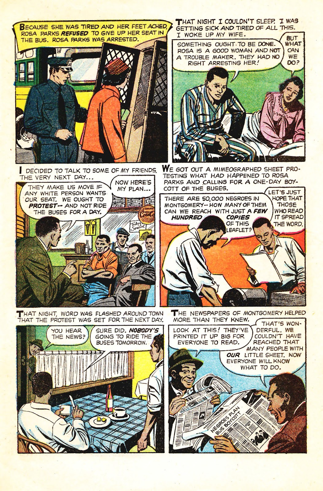 Read online Martin Luther King and the Montgomery Story comic -  Issue # Full - 4