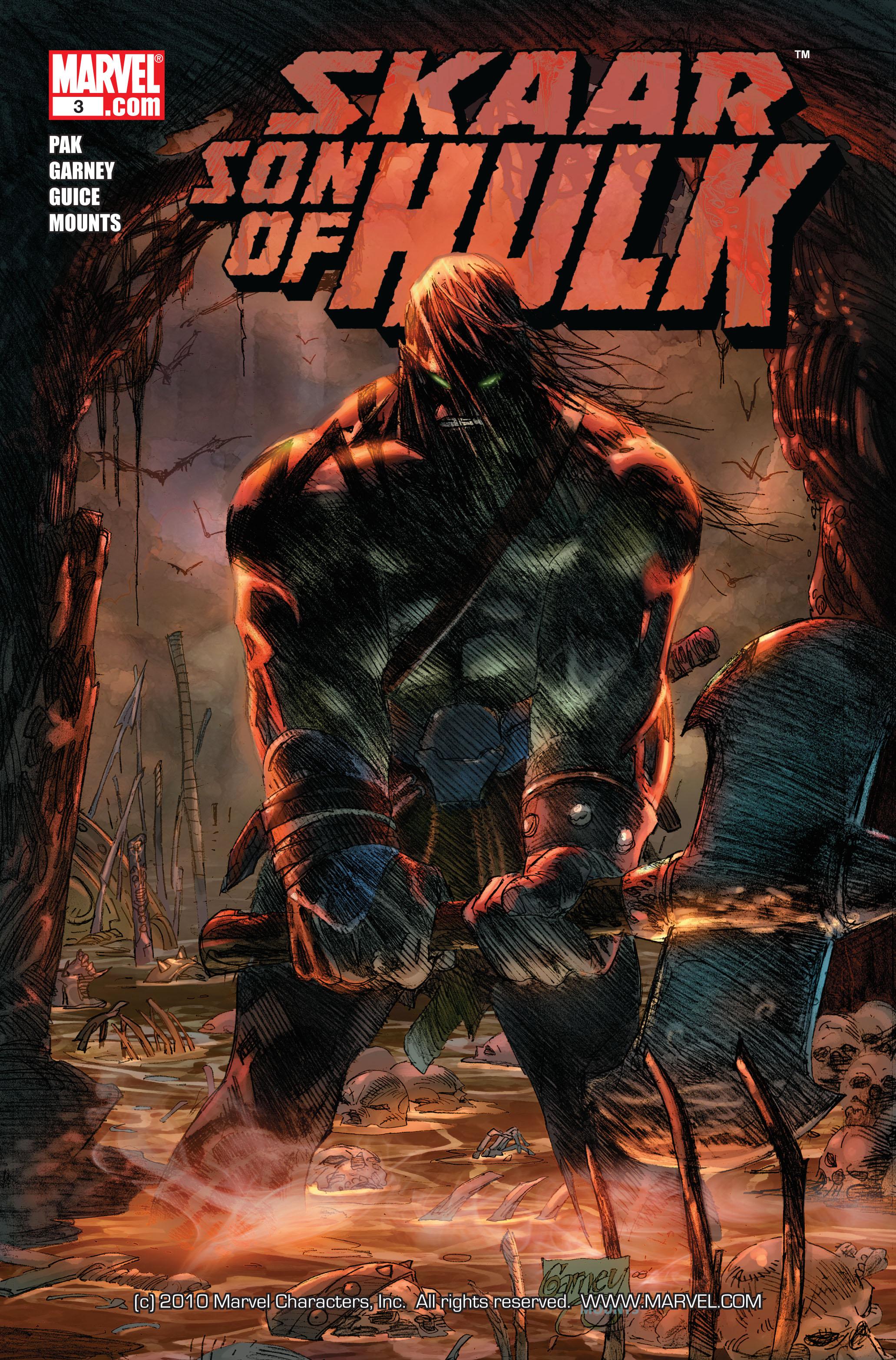 Read online Skaar: Son of Hulk comic -  Issue #3 - 1