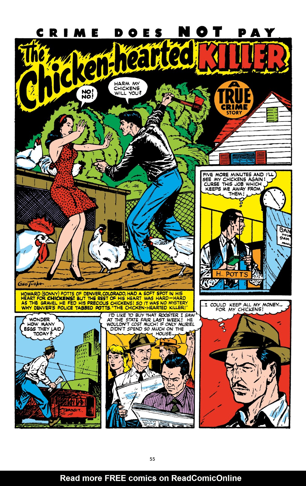 Read online Crime Does Not Pay Archives comic -  Issue # TPB 8 (Part 1) - 56