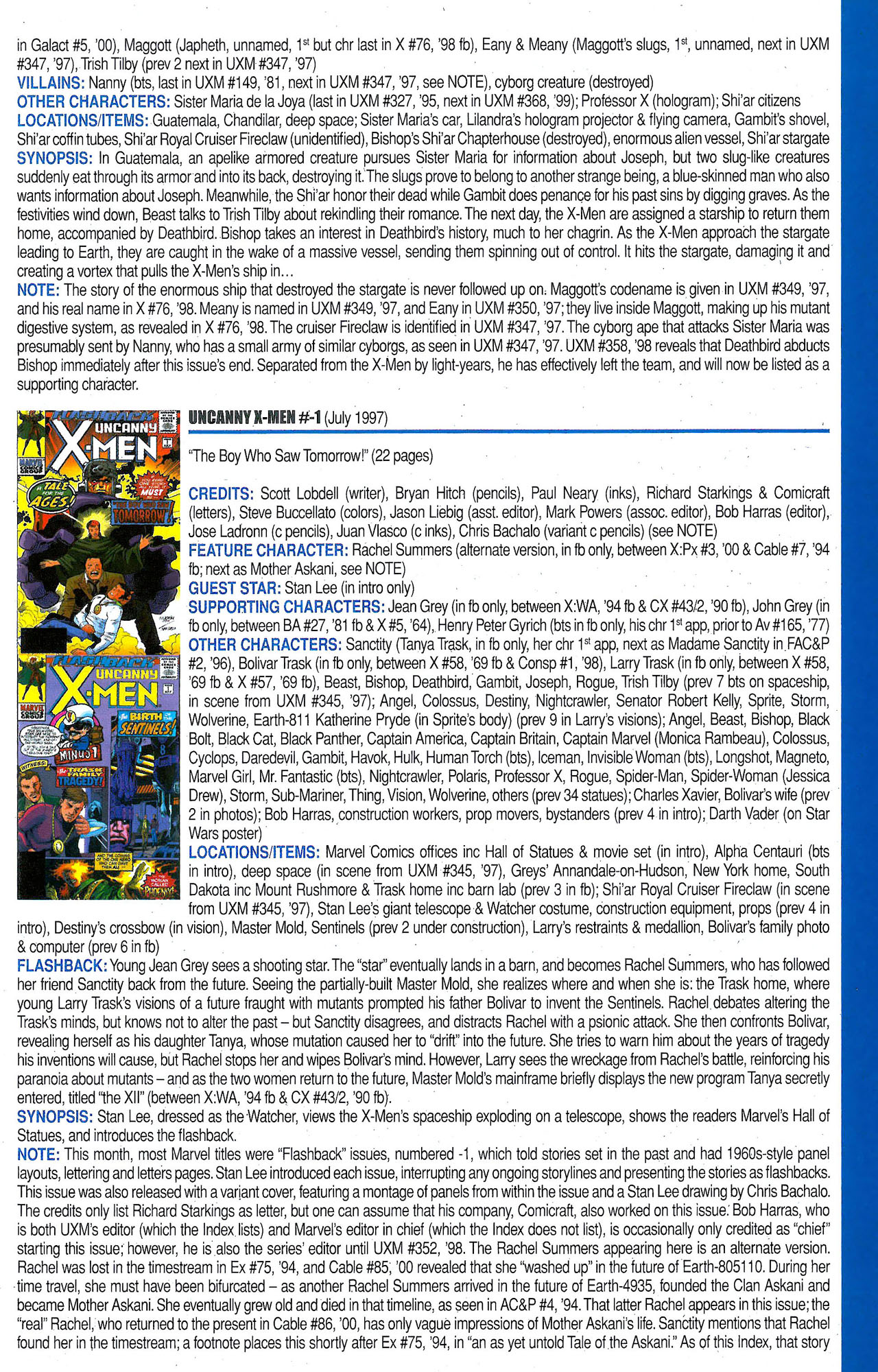 Read online Official Index to the Marvel Universe comic -  Issue #9 - 49