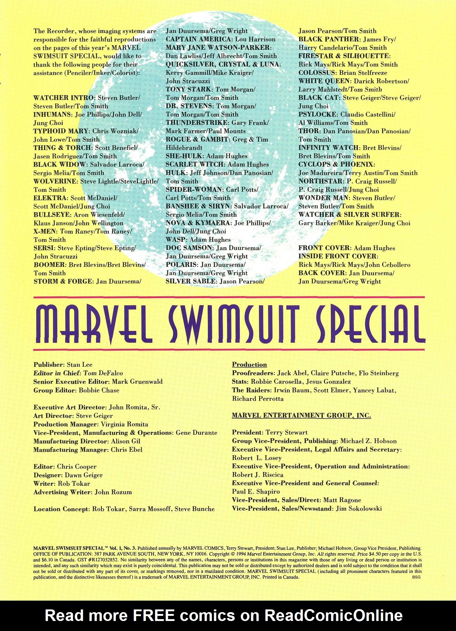 Read online Marvel Swimsuit Special comic -  Issue #3 - 3