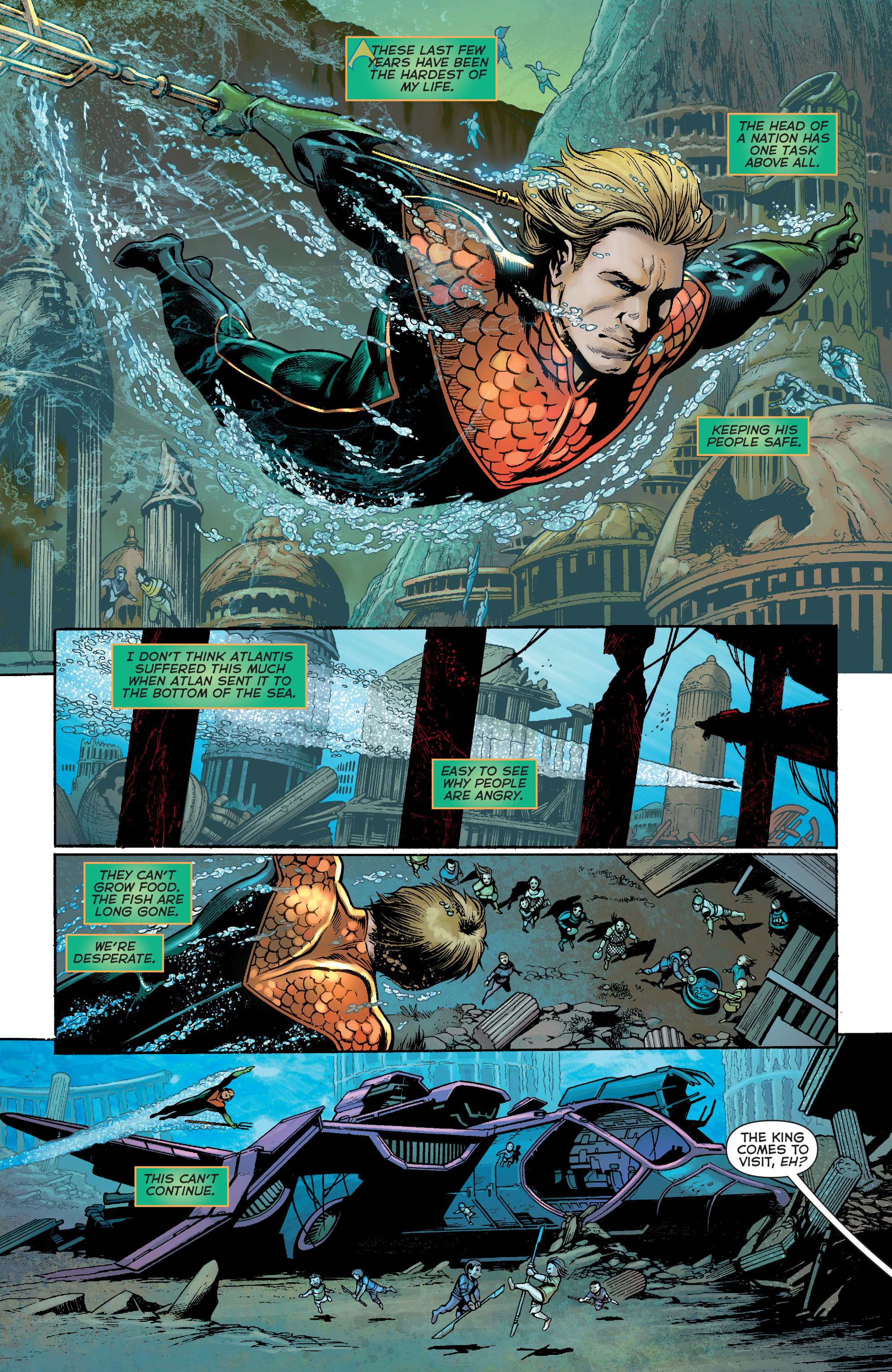Read online Aquaman: Futures End comic -  Issue #Aquaman: Futures End Full - 14