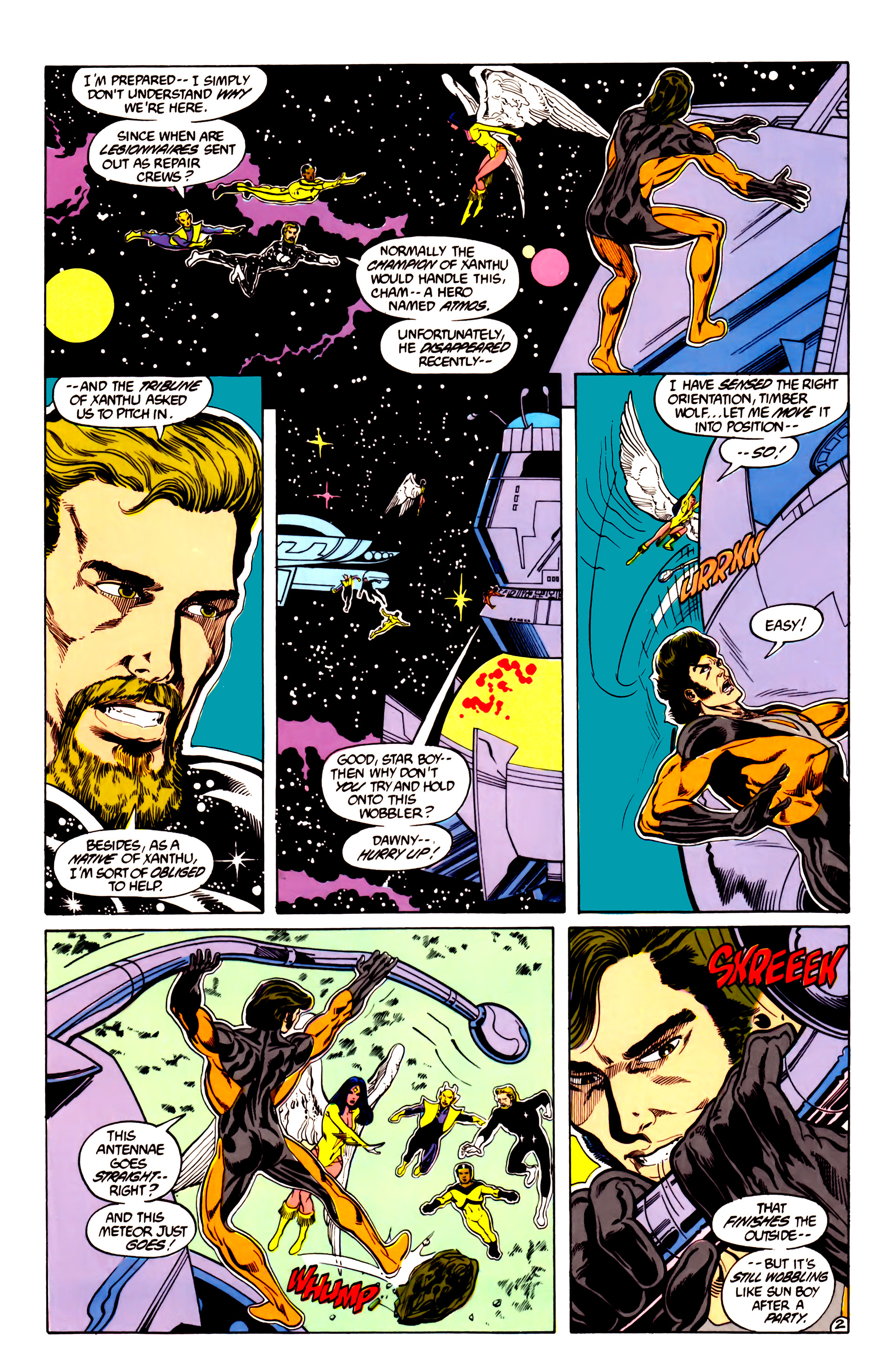 Legion of Super-Heroes (1984) 28 Page 3