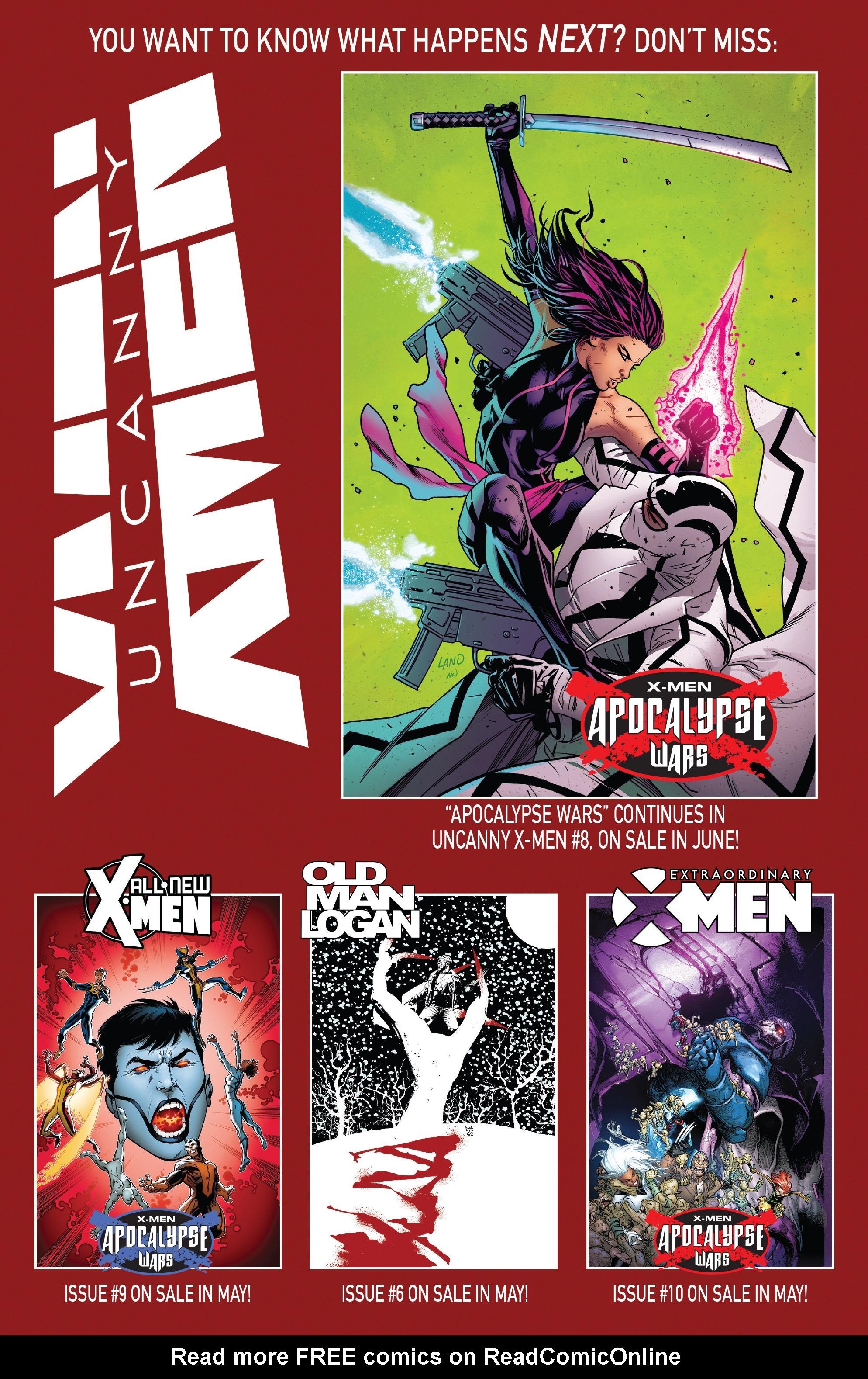 Read online Uncanny X-Men (2016) comic -  Issue #7 - 23
