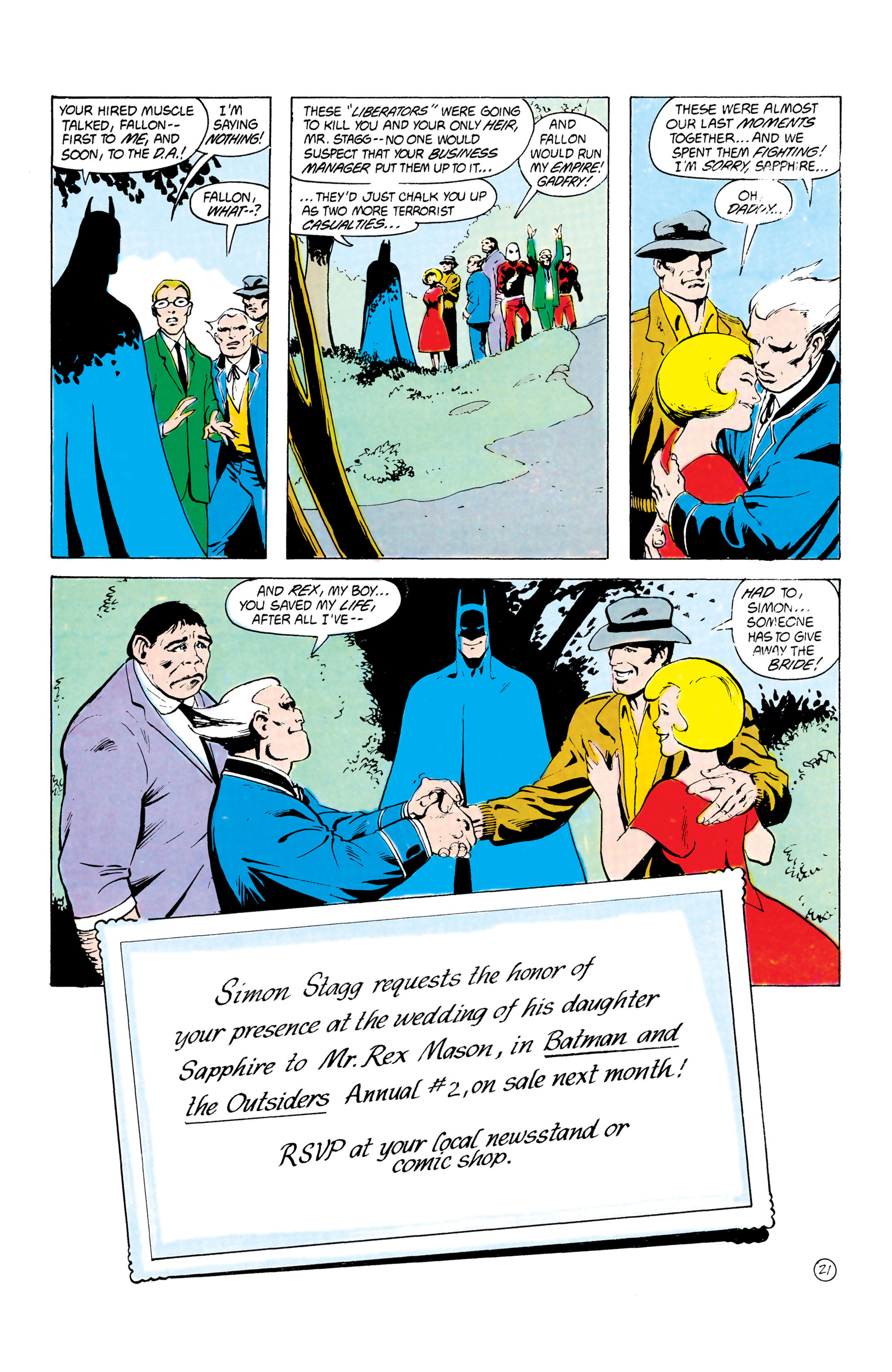 Batman and the Outsiders (1983) 24 Page 21