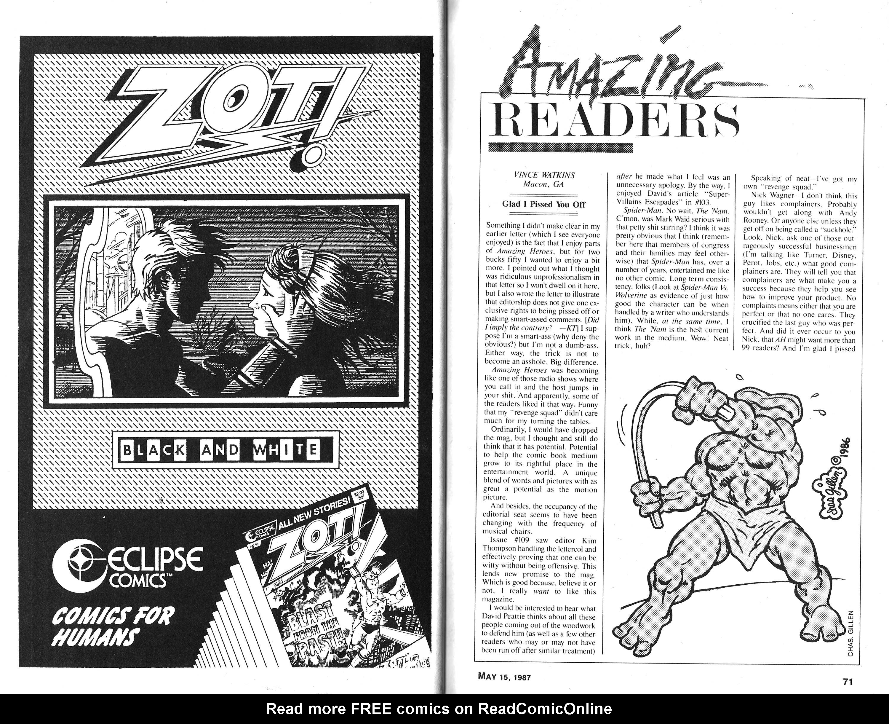 Read online Amazing Heroes comic -  Issue #117 - 36