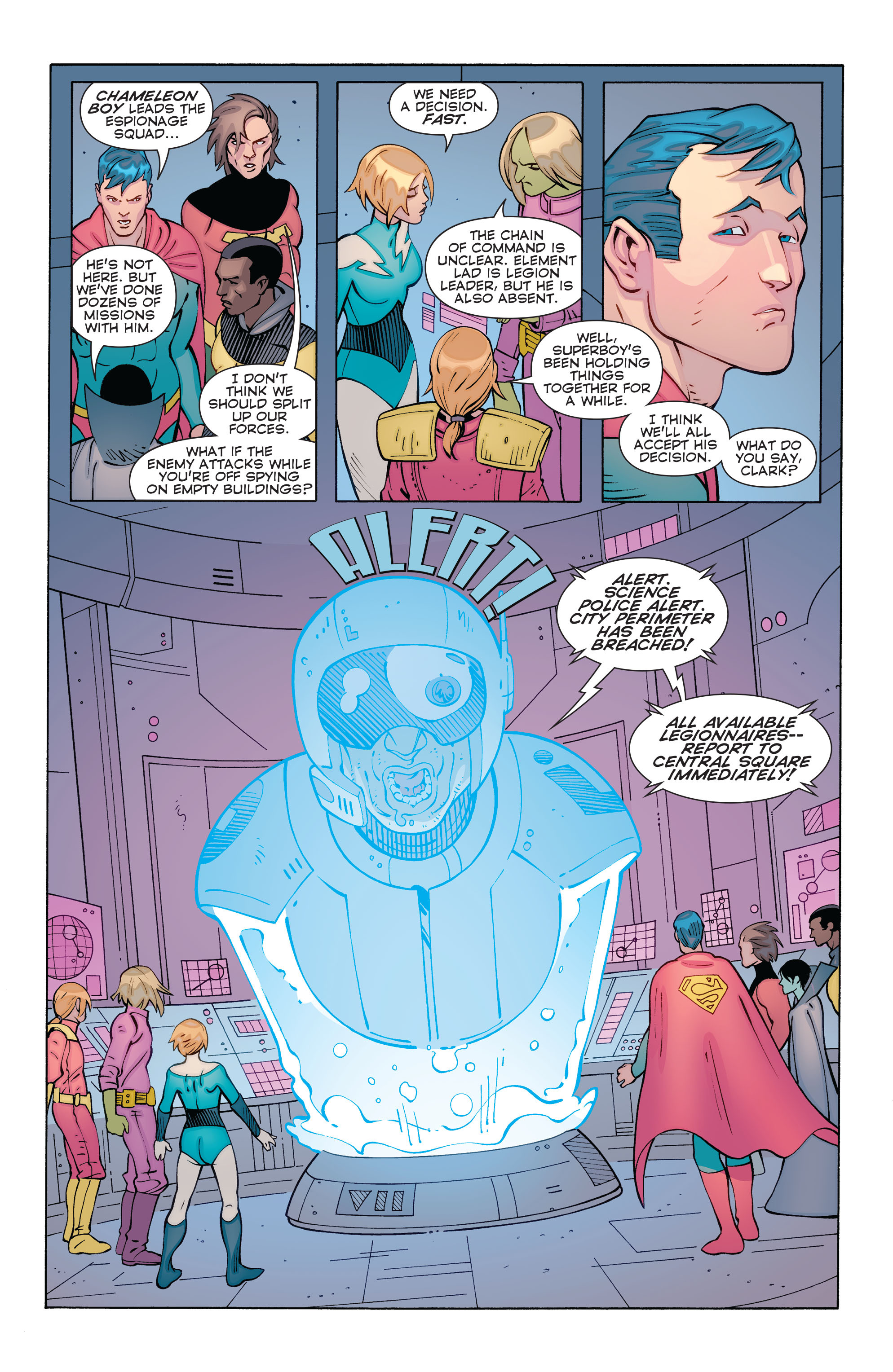 Read online Convergence Superboy and the Legion of Super-Heroes comic -  Issue #1 - 21
